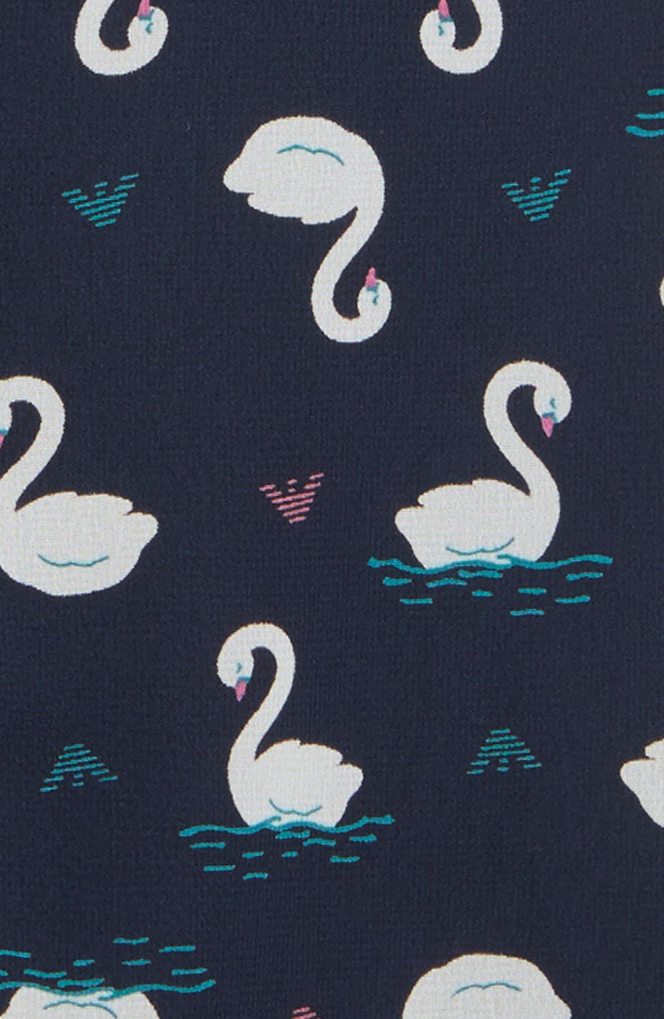 Swan Shift Dress,                             Alternate thumbnail 3, color,                             Navy