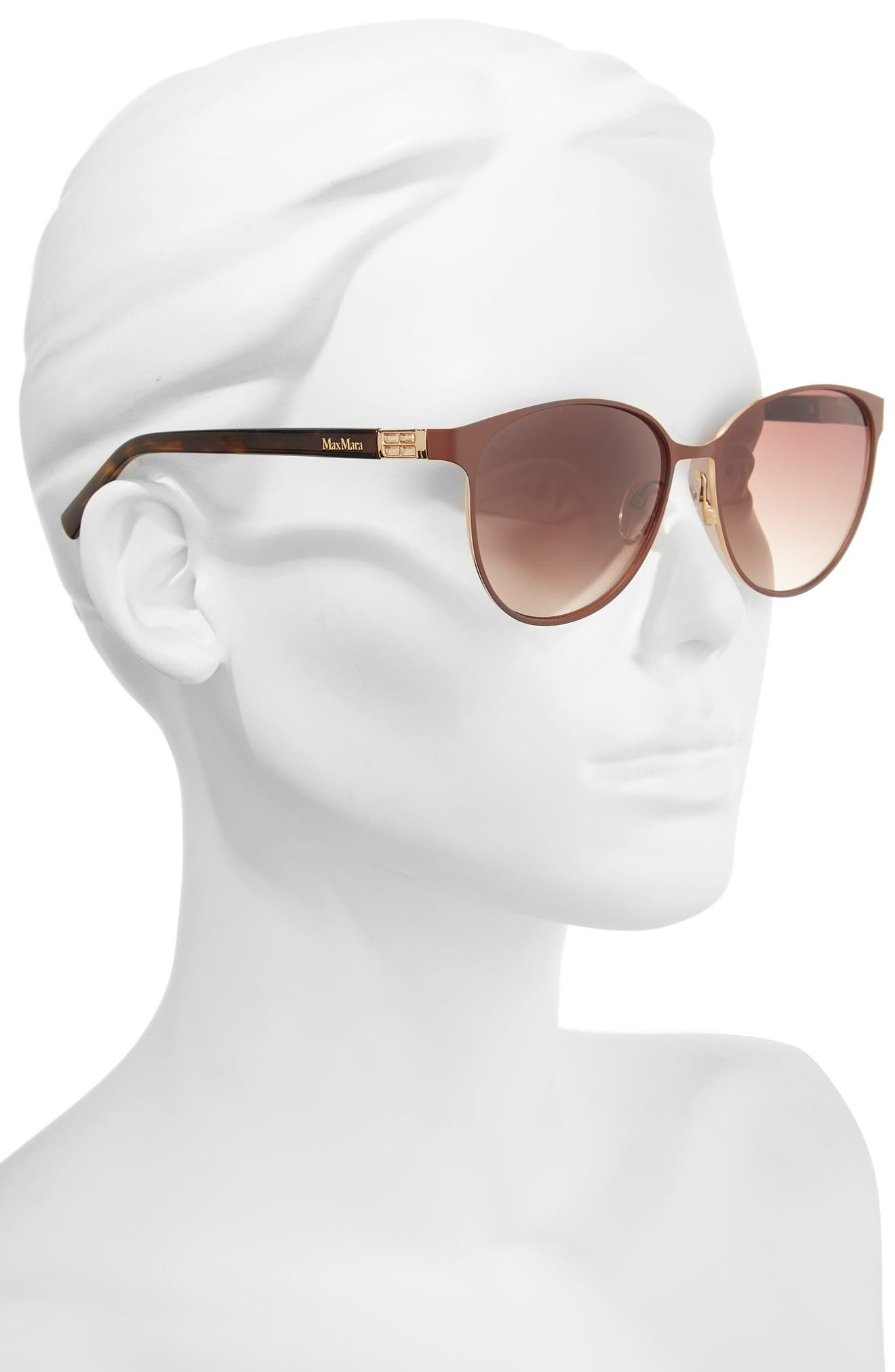 Diamov 59mm Gradient Cat Eye Sunglasses,                             Alternate thumbnail 2, color,                             Matte Brown