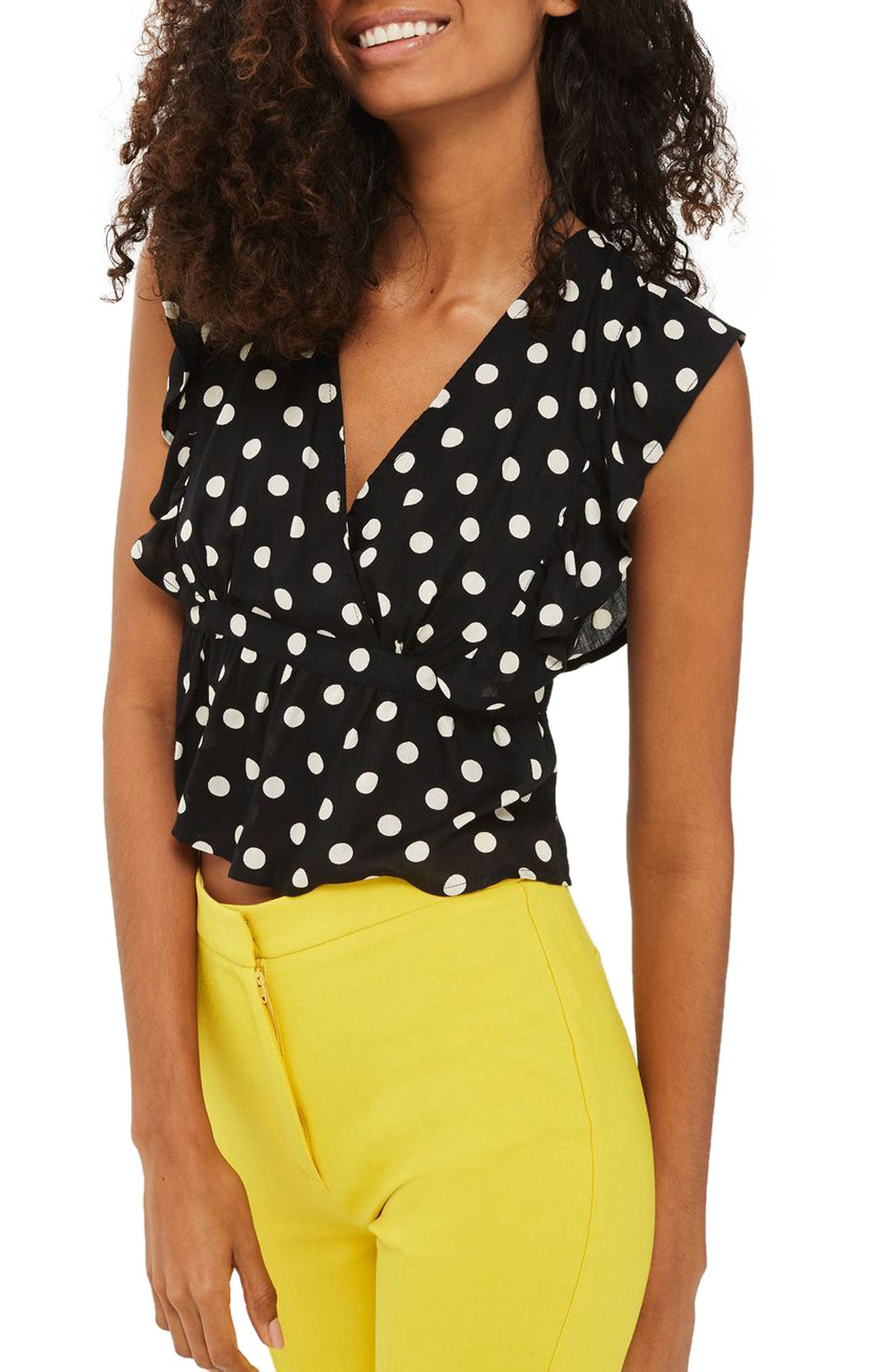 Topshop Polka Dot Sun Top