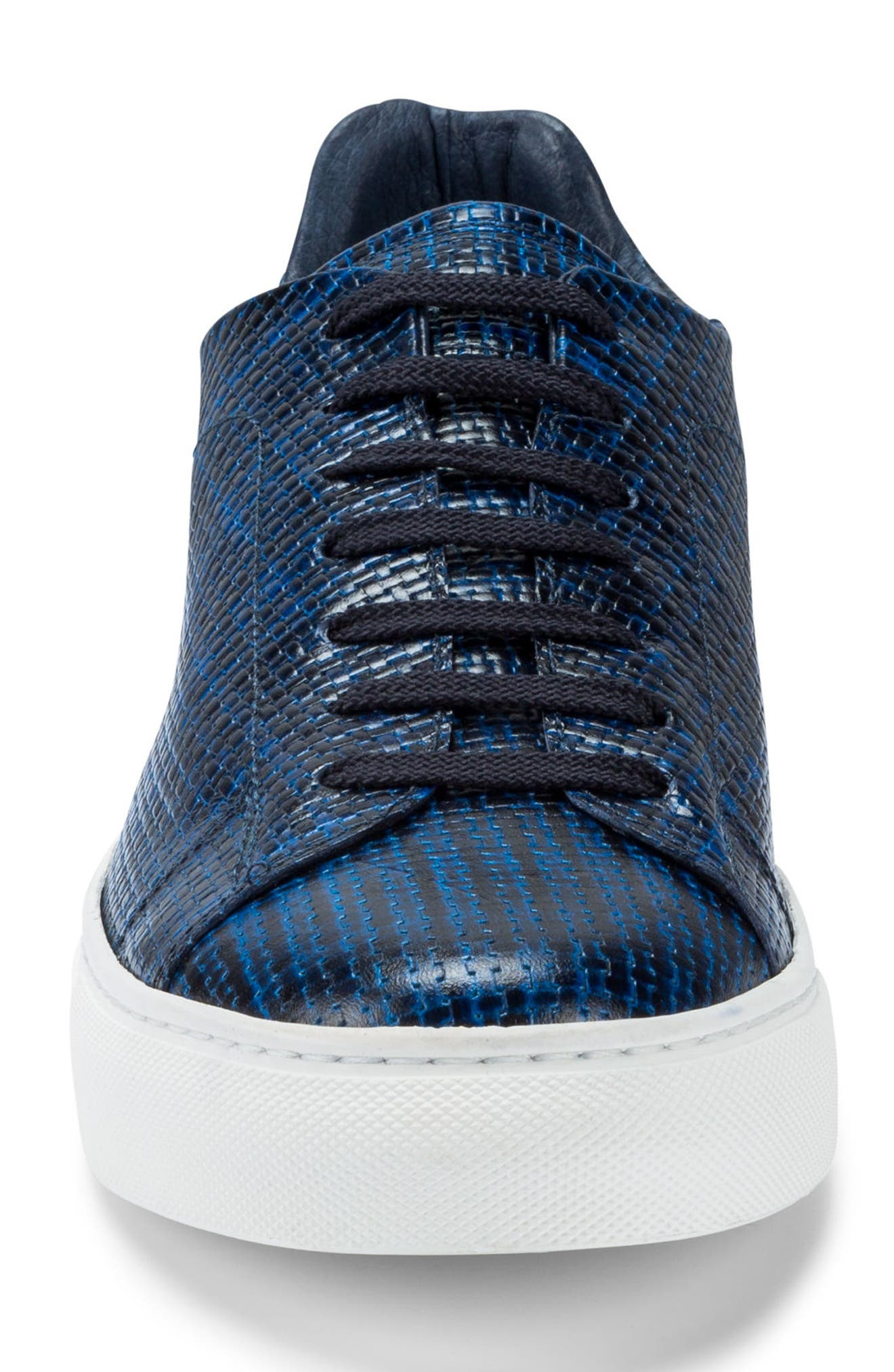 Wimbledon Sneaker,                             Alternate thumbnail 4, color,                             Navy Leather