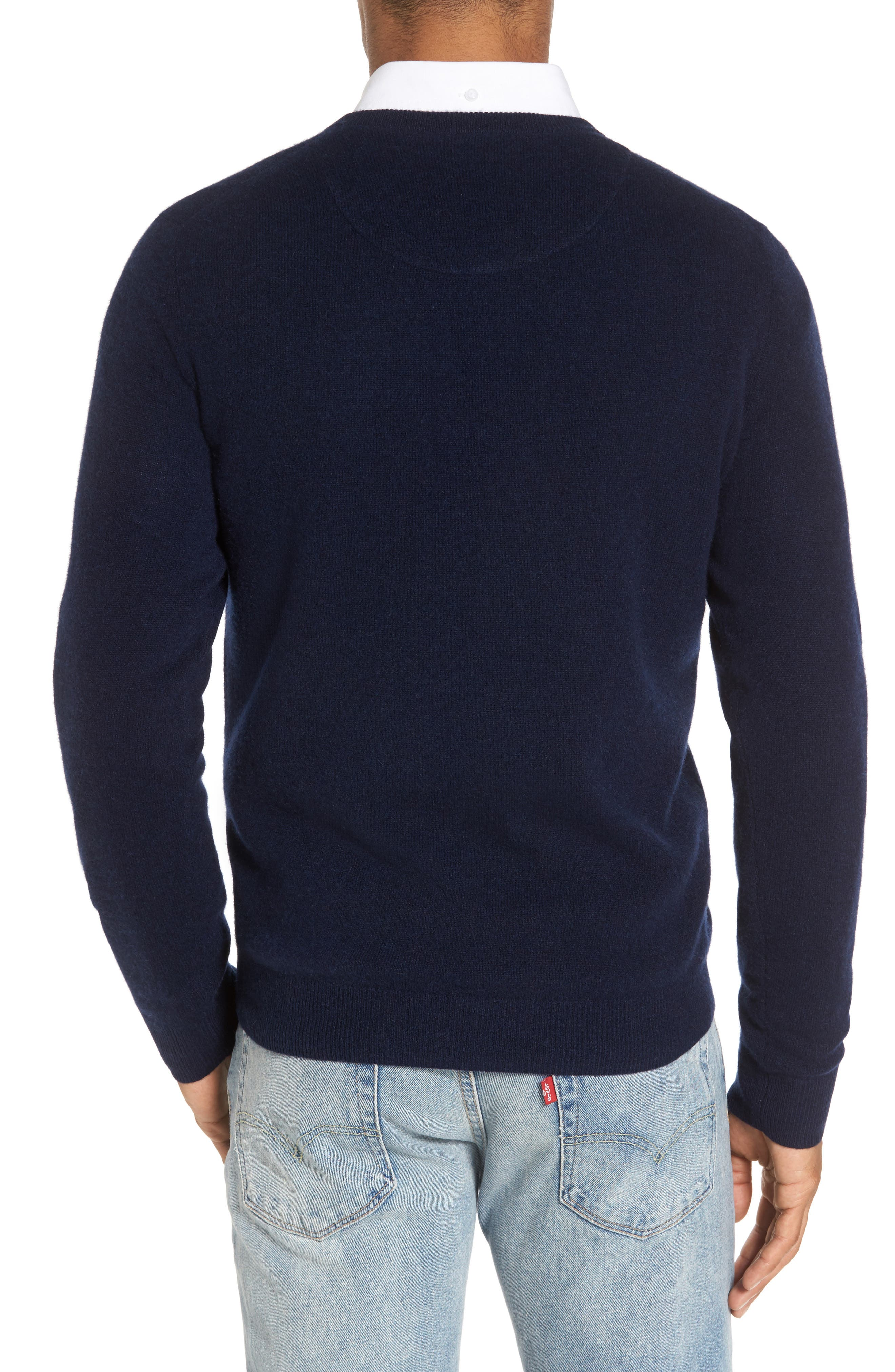 Alternate Image 2  - Nordstrom Men's Shop Cashmere V-Neck Sweater