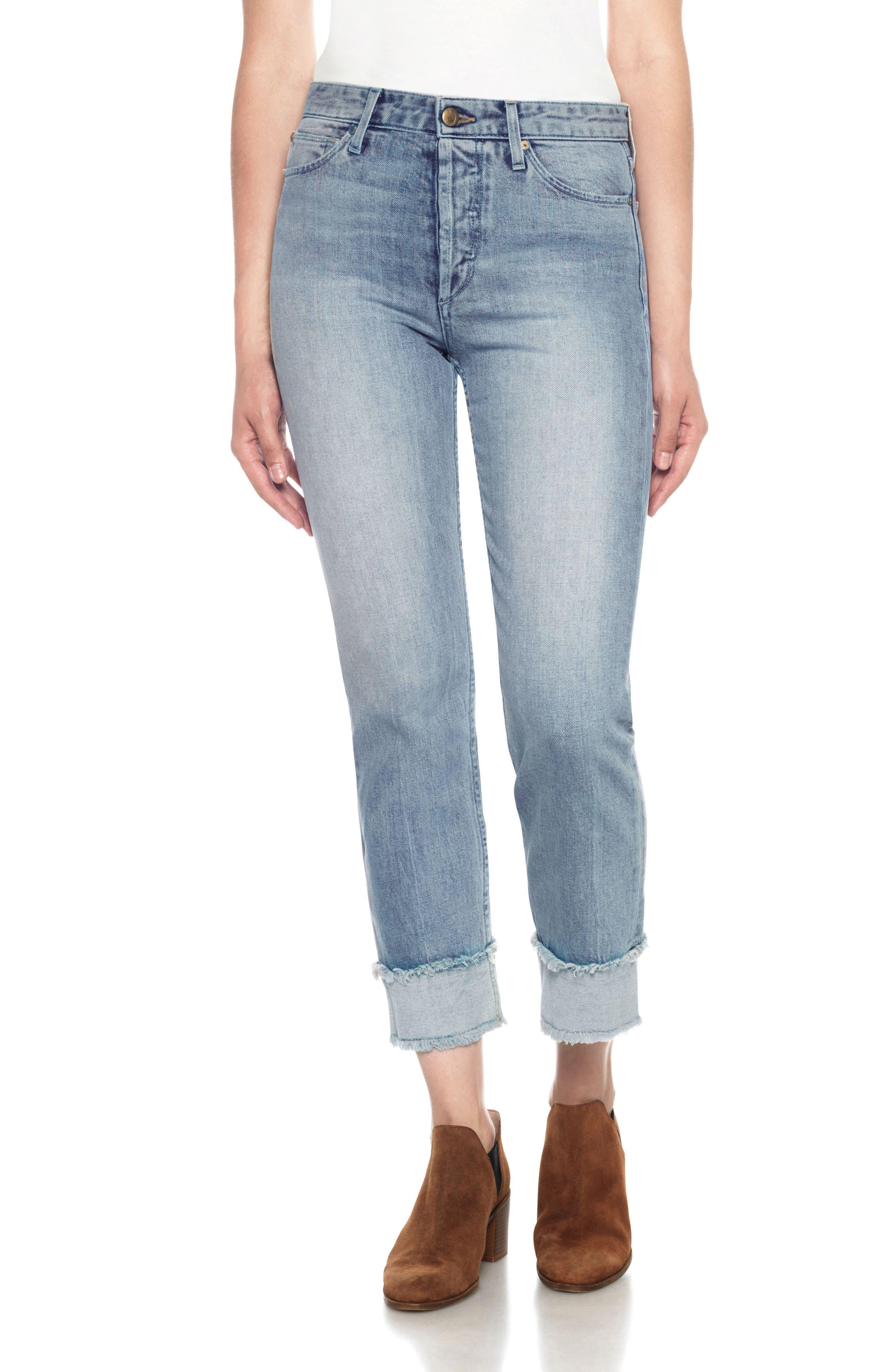 Joe's Debbie High Waist Cuff Ankle Jeans (Kamryn)