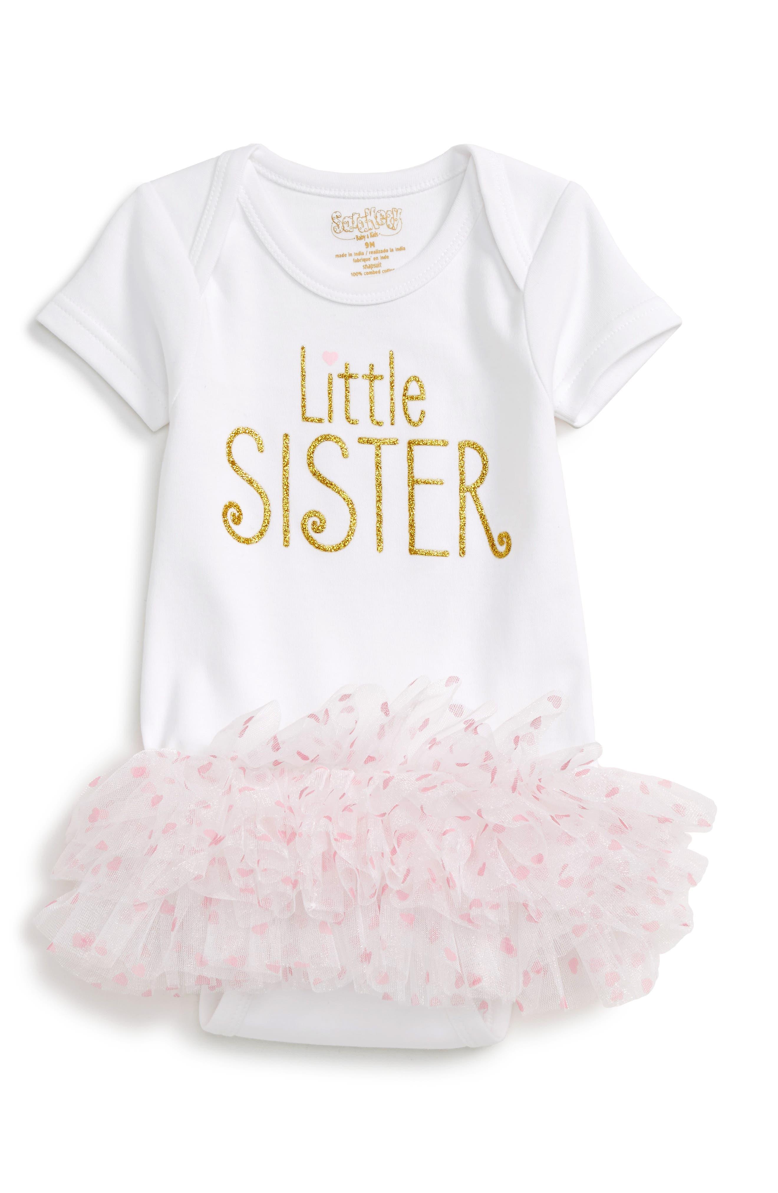 Sara Kety Baby and Kids Little Sister Tutu Bodysuit (Baby Girls)