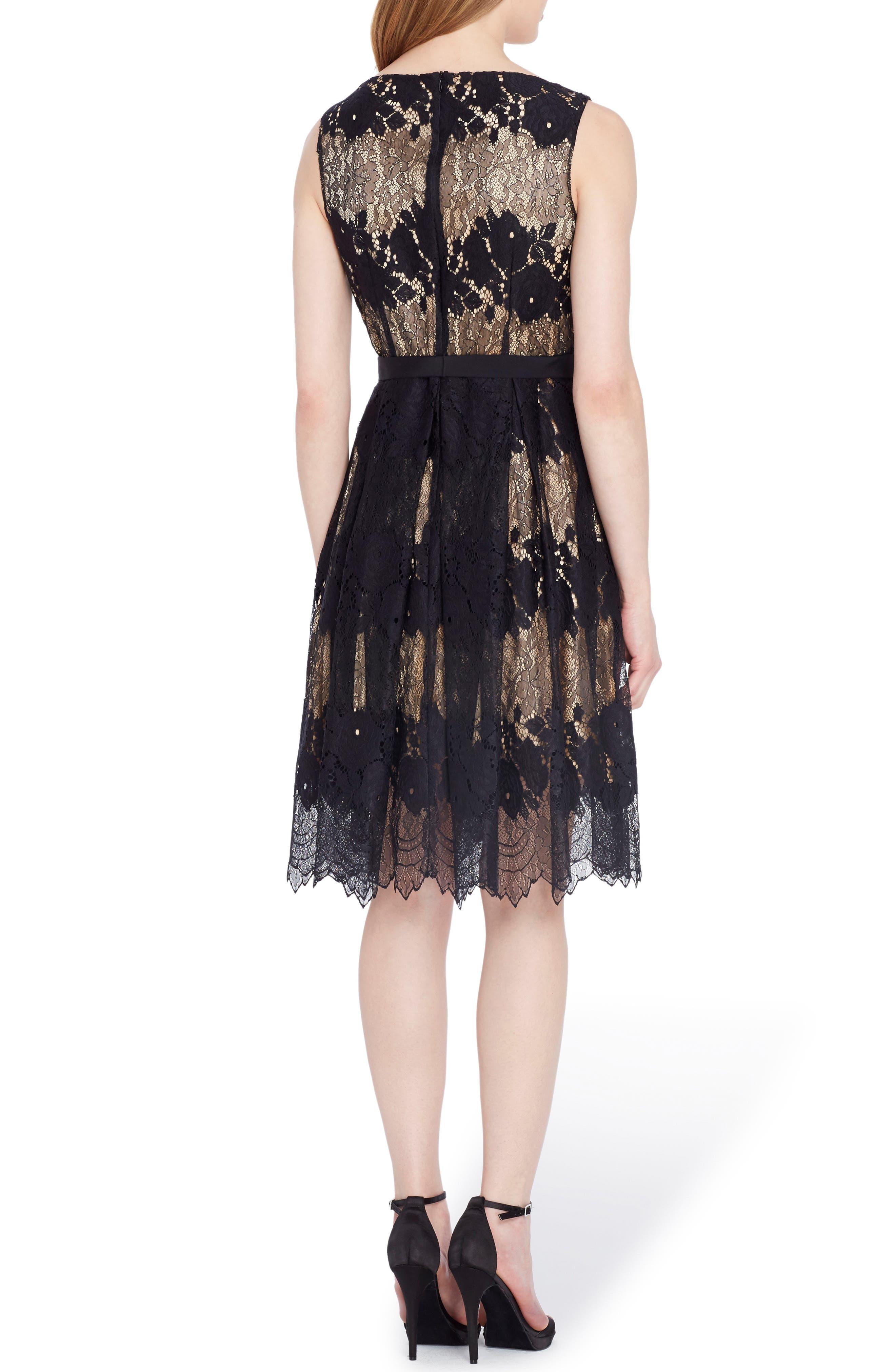 Alternate Image 2  - Tahari Lace Fit & Flare Dress (Regular & Petite)