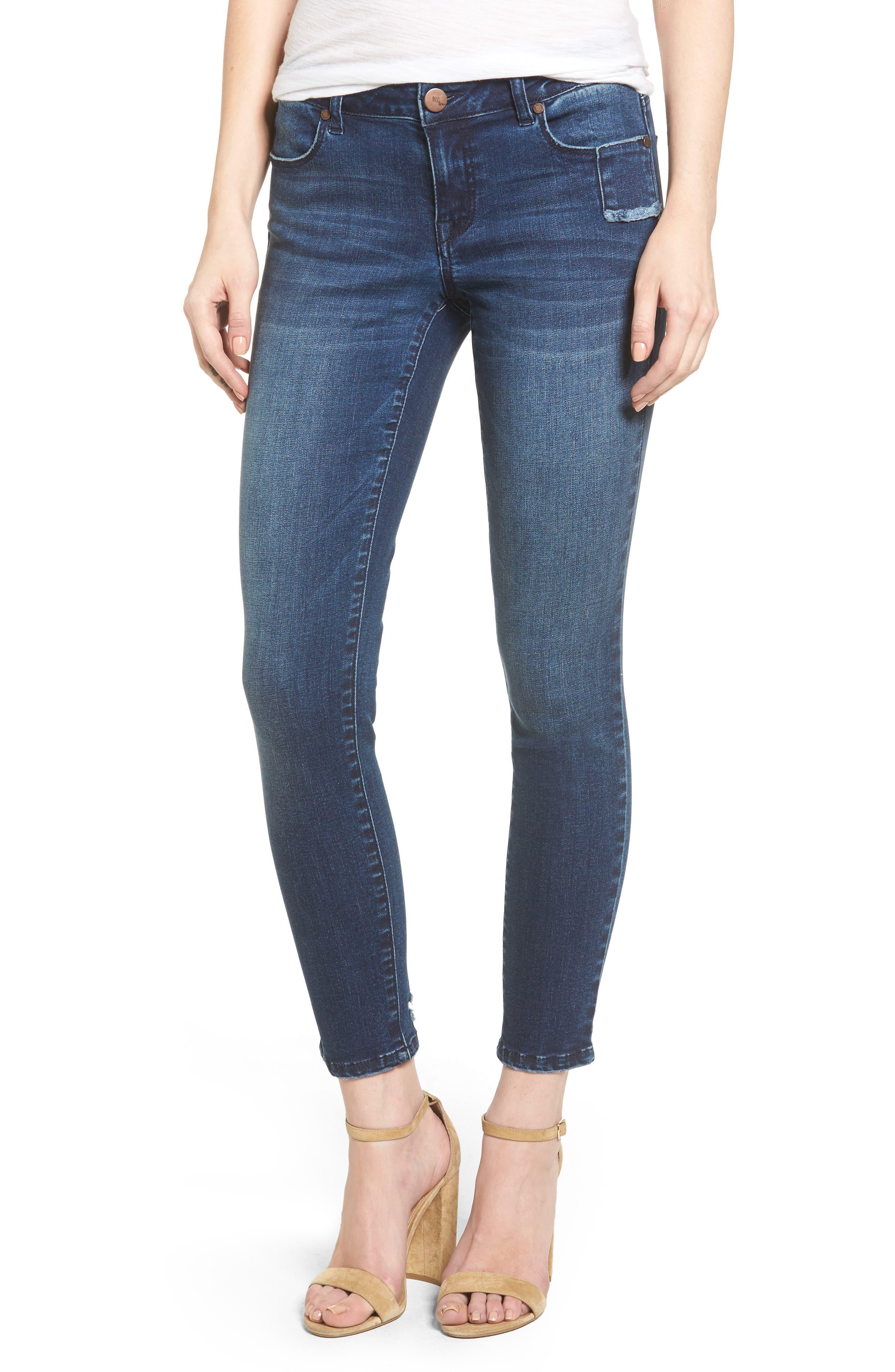 1822 Denim Ripped Skinny Jeans (Stevie)