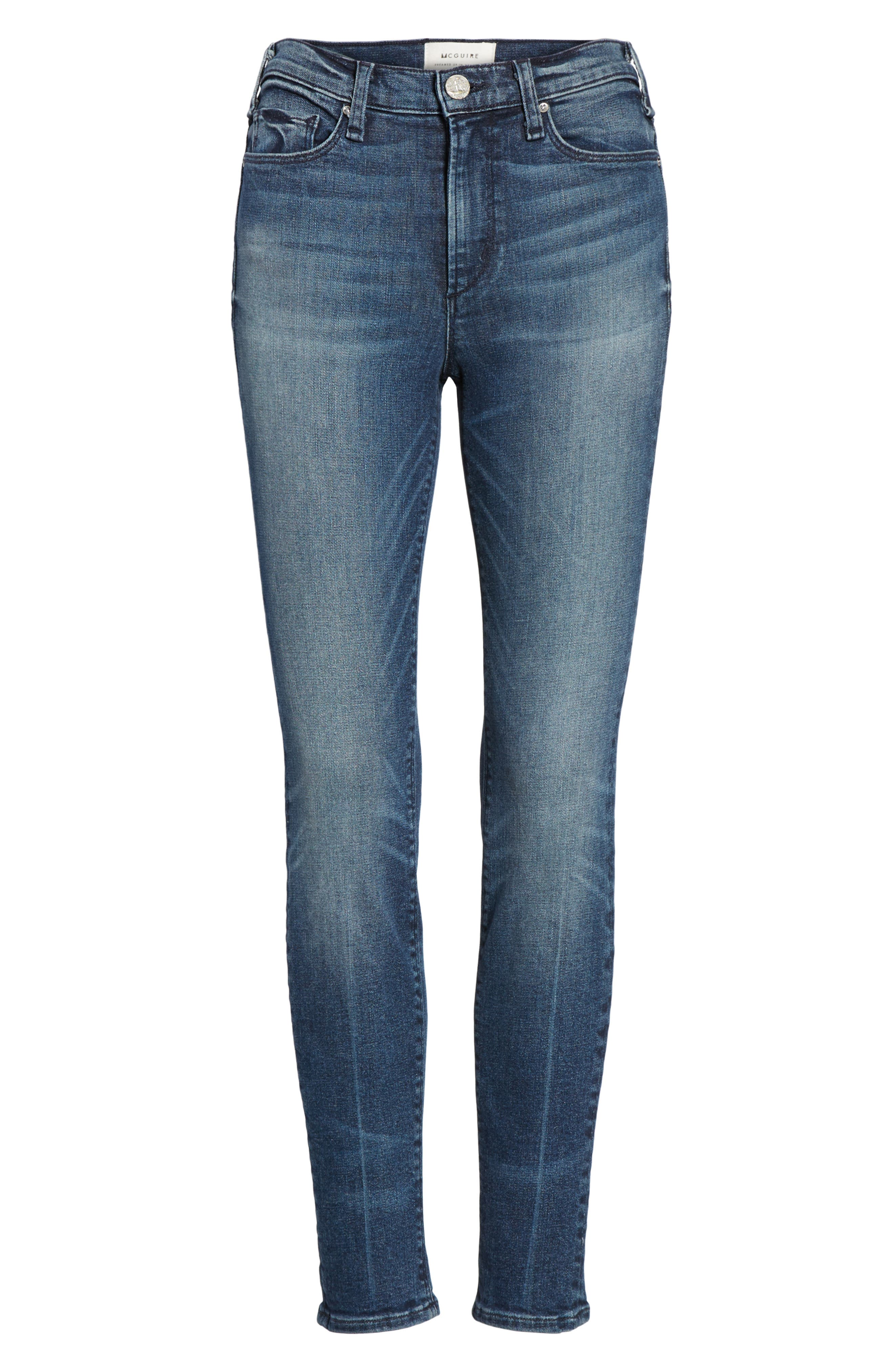 Alternate Image 6  - McGuire Newton High Waist Skinny Jeans (Isle in the Sky)
