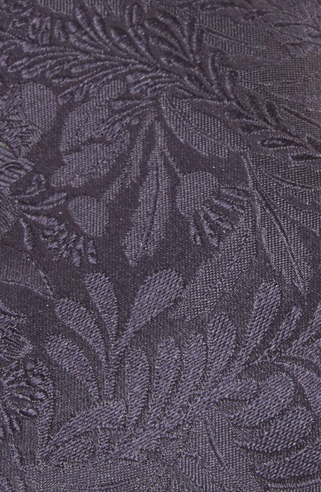 Tonal Floral Silk Tie,                             Alternate thumbnail 2, color,                             Blue