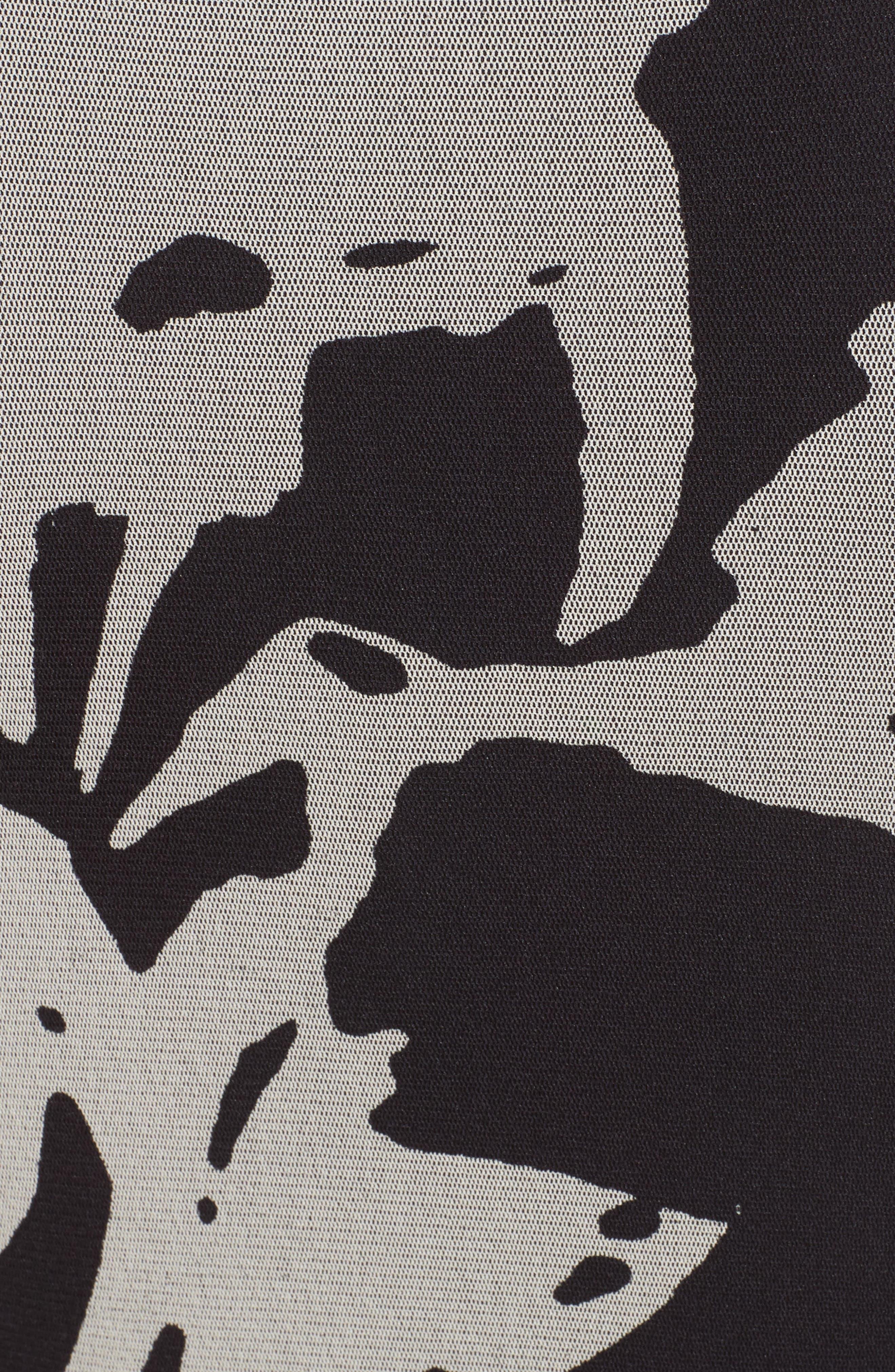 Alternate Image 5  - Fuzzi Bicolor Floral Print Tulle Maxi Dress