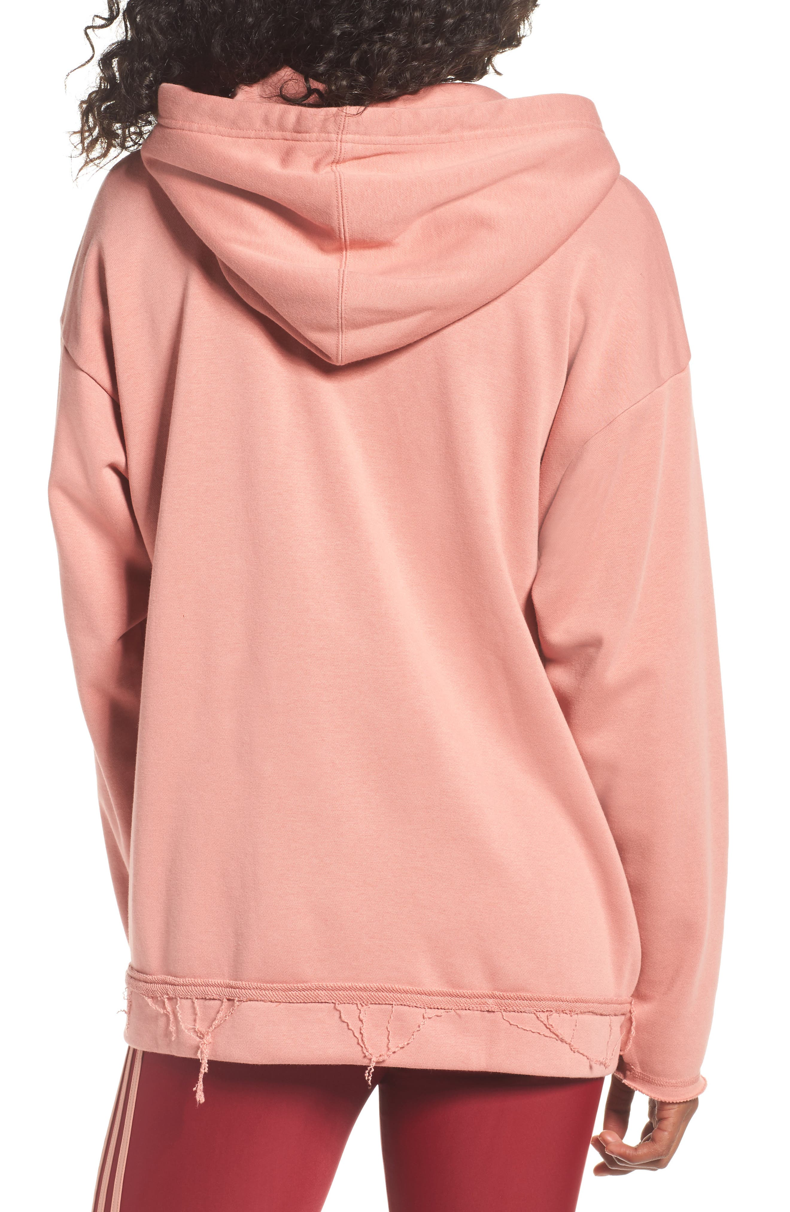 Originals Trefoil Hoodie,                             Alternate thumbnail 4, color,                             Raw Pink