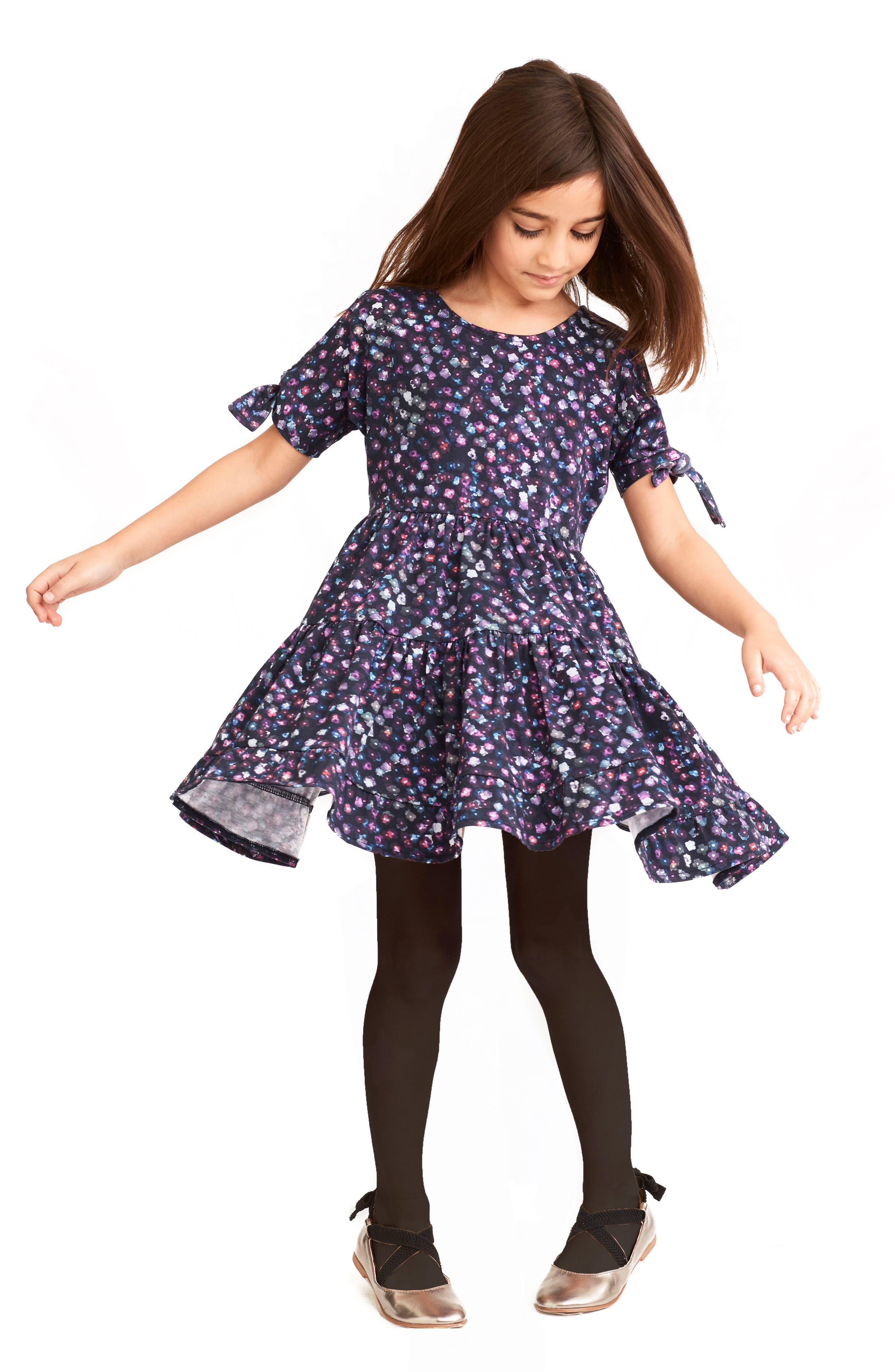 Alternate Image 2  - Art & Eden Emma Cold Shoulder Dress (Toddler Girls & Little Girls)