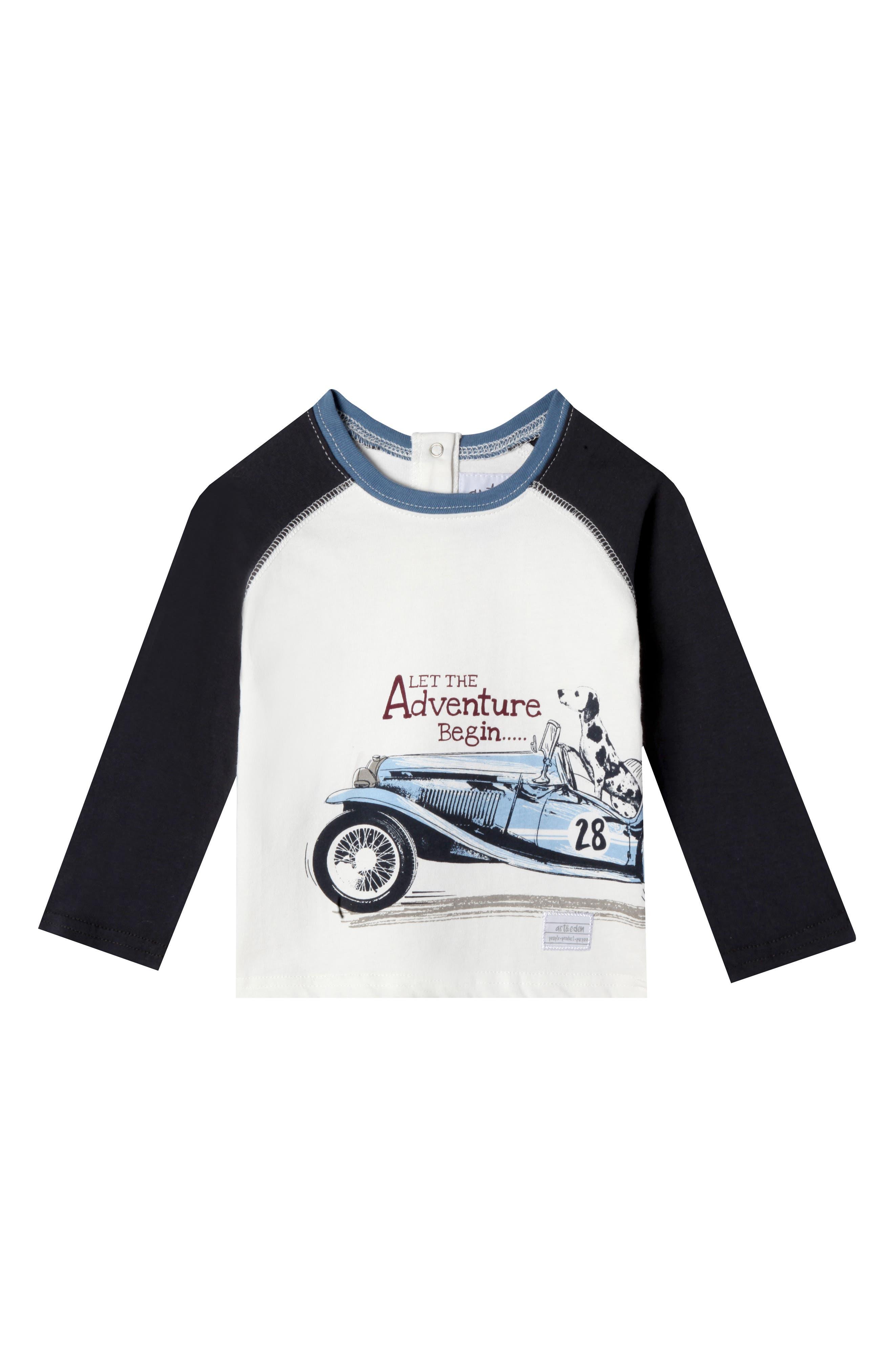 Adventure Organic Cotton T-Shirt,                         Main,                         color, Egret