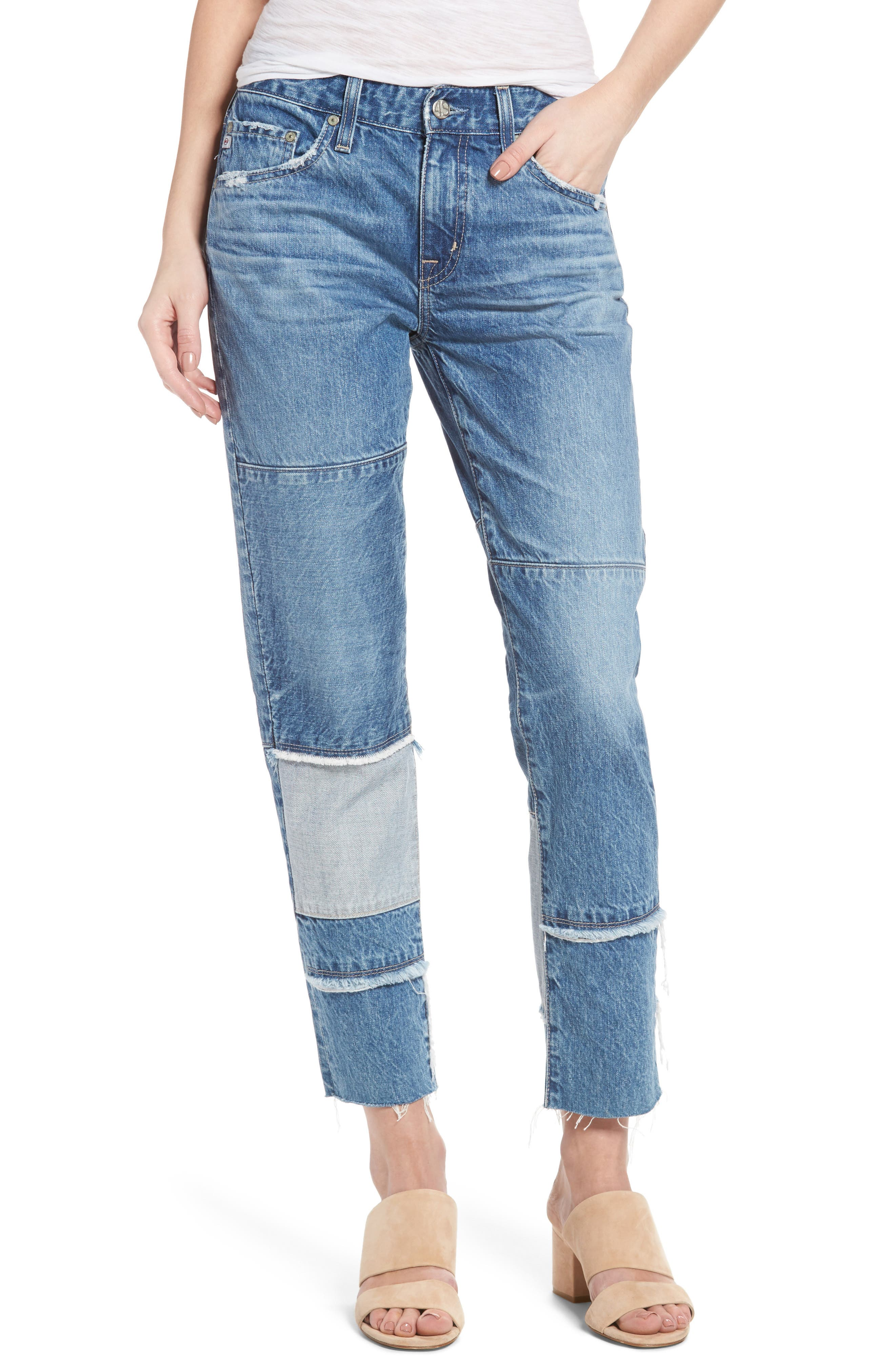 Main Image - AG The Ex-Boyfriend Crop Slim Jeans (18 Years Blue Mosque)