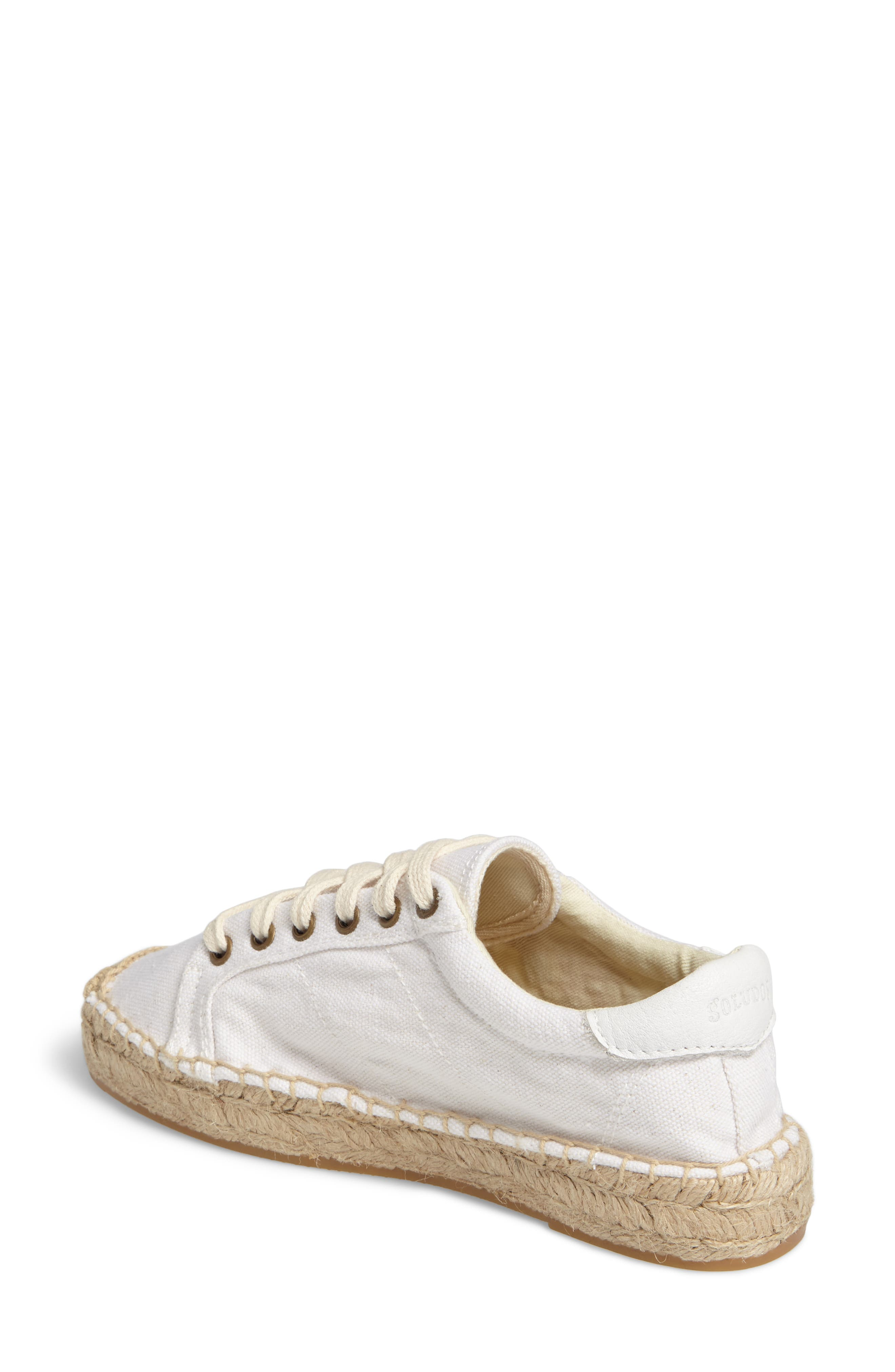 Floral Embroidered Espadrille Sneaker,                             Alternate thumbnail 2, color,                             White Canvas