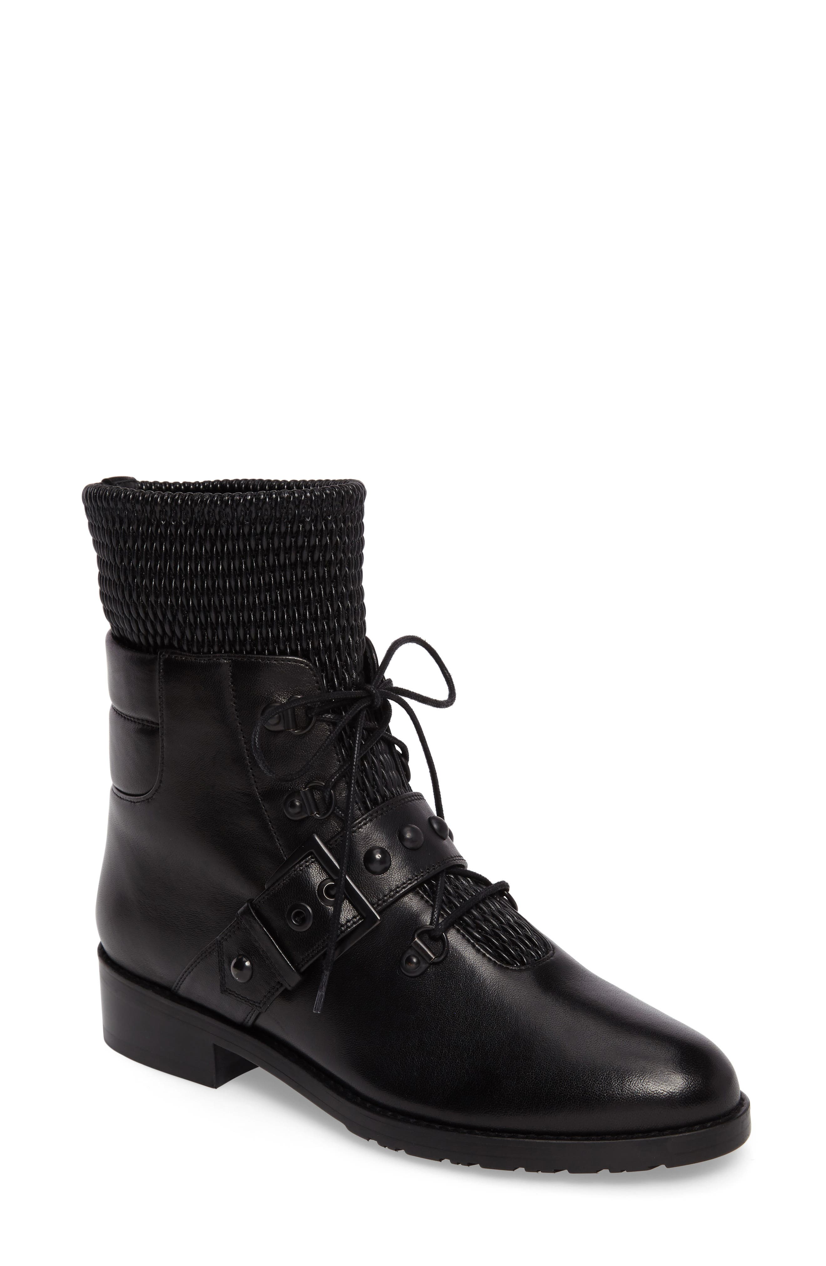 Alternate Image 1 Selected - Stuart Weitzman Stitchwork Combat Boot (Women)