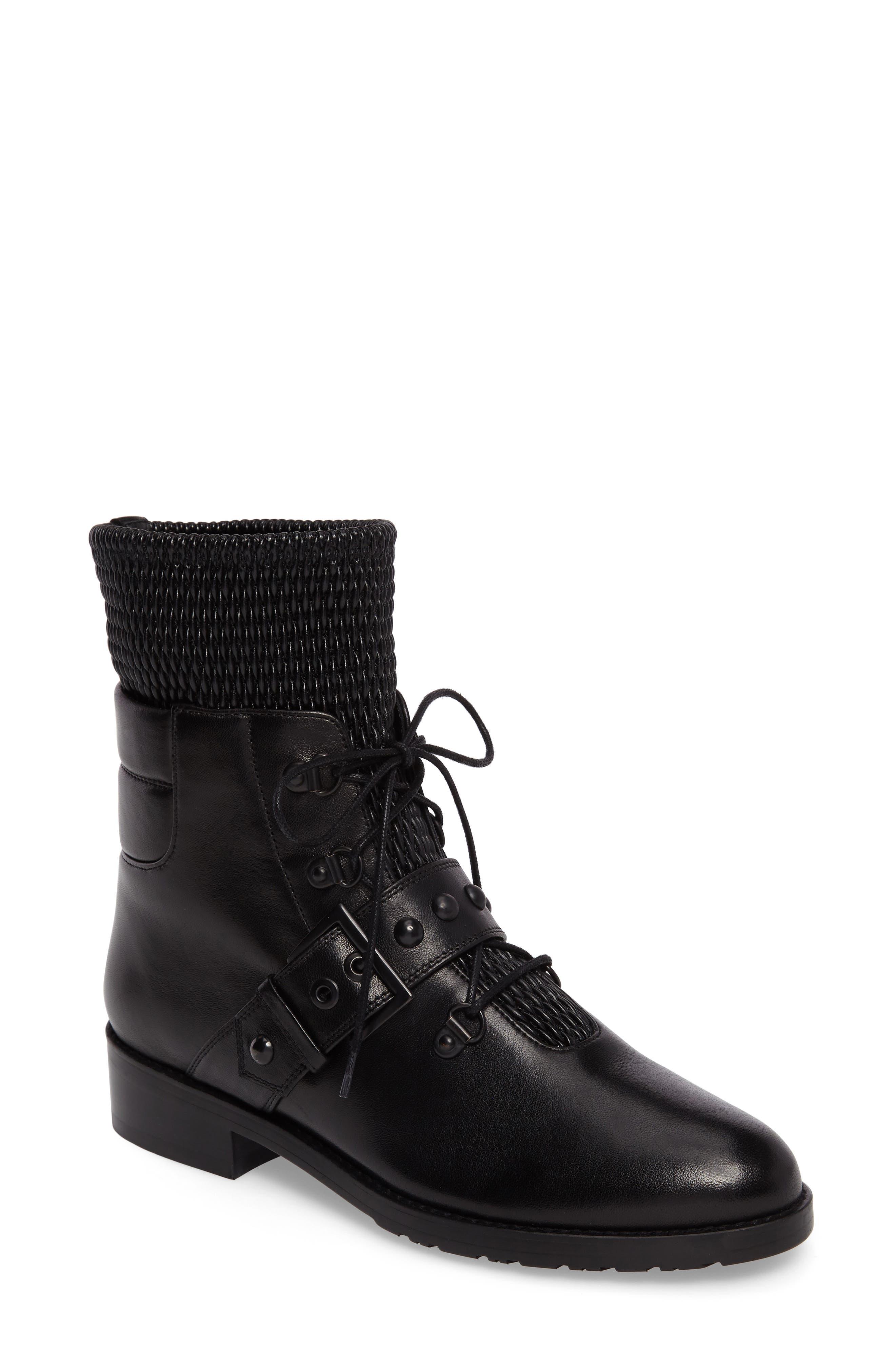 Main Image - Stuart Weitzman Stitchwork Combat Boot (Women)