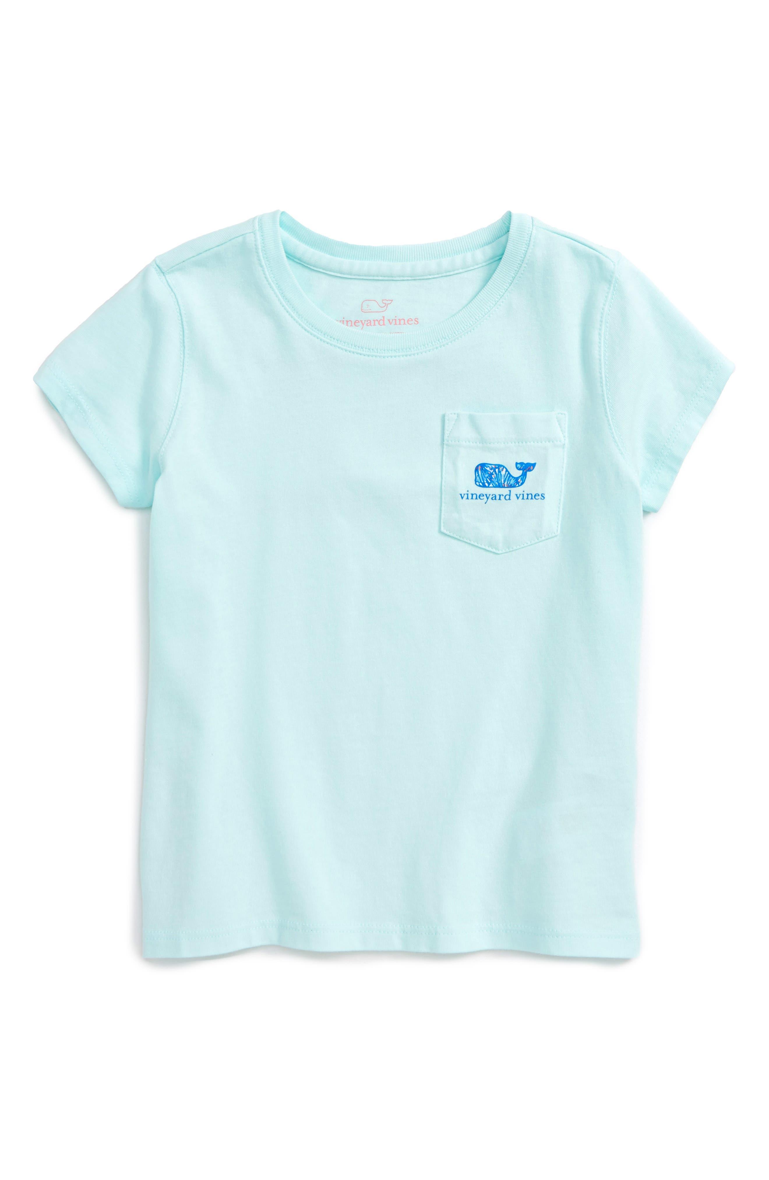 Vineyard Vines Shell Diamond Print Whale Tee (Toddler Girls)