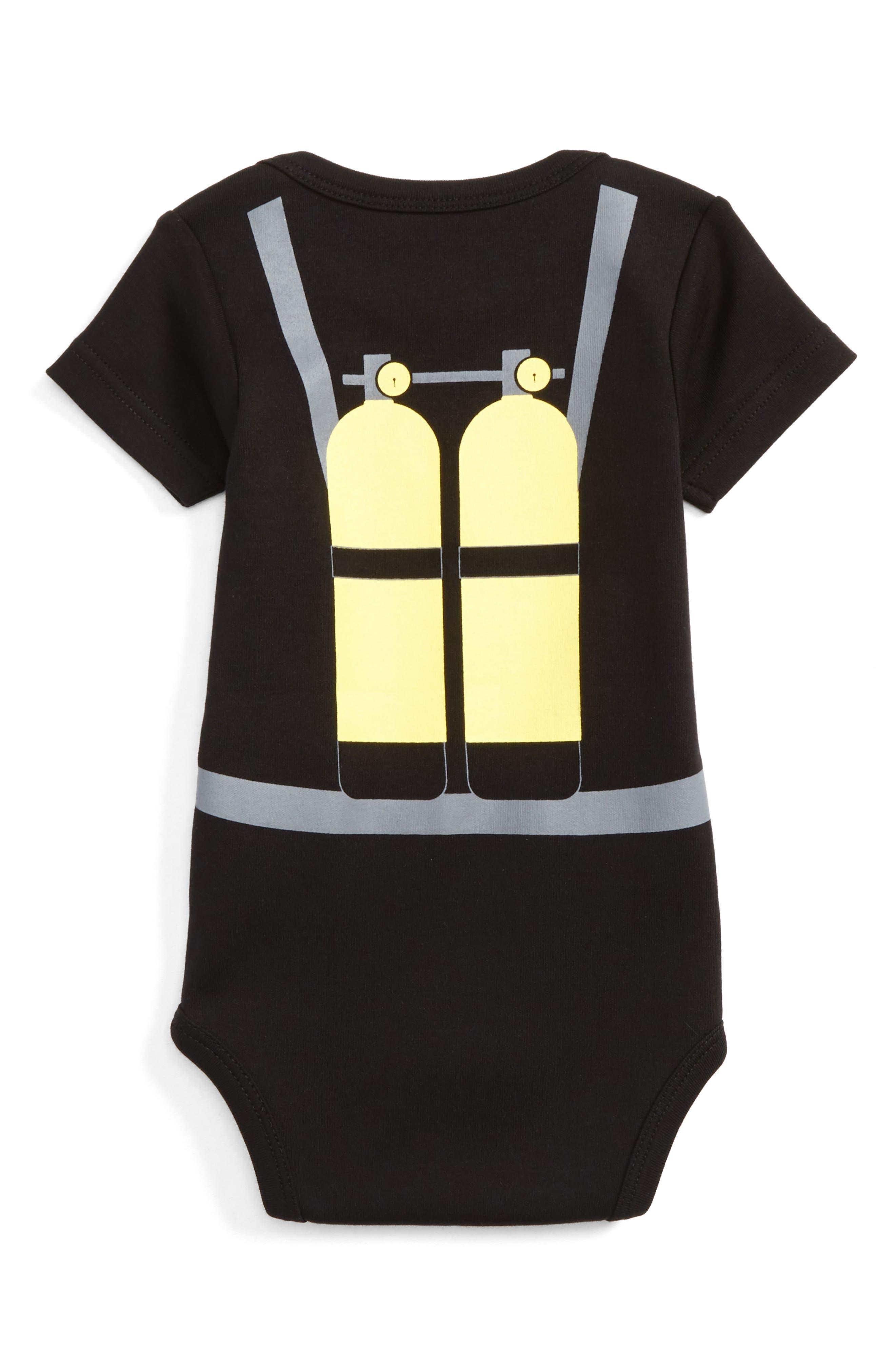 Alternate Image 2  - Sara Kety Baby & Kids Scuba Boy Bodysuit (Baby Boys)