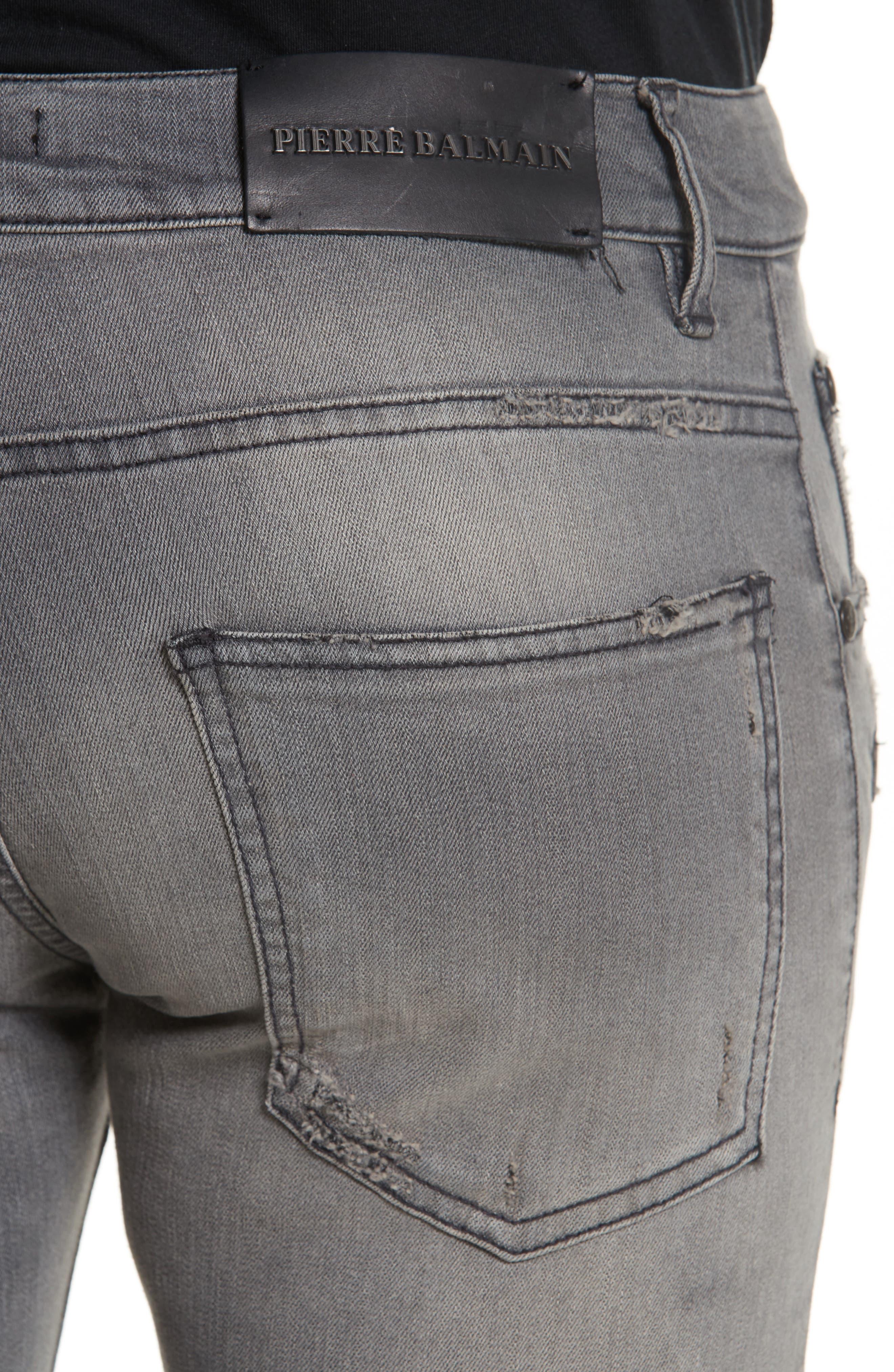 Alternate Image 5  - Pierre Balmain Distressed Moto Jeans