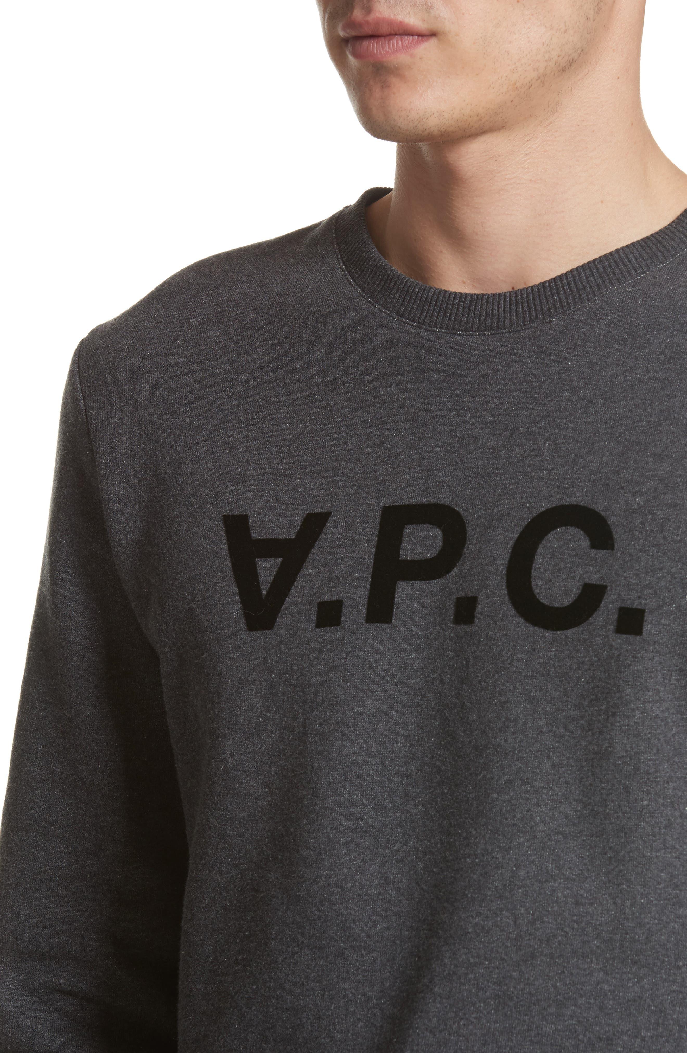 Alternate Image 4  - A.P.C. Logo Sweatshirt