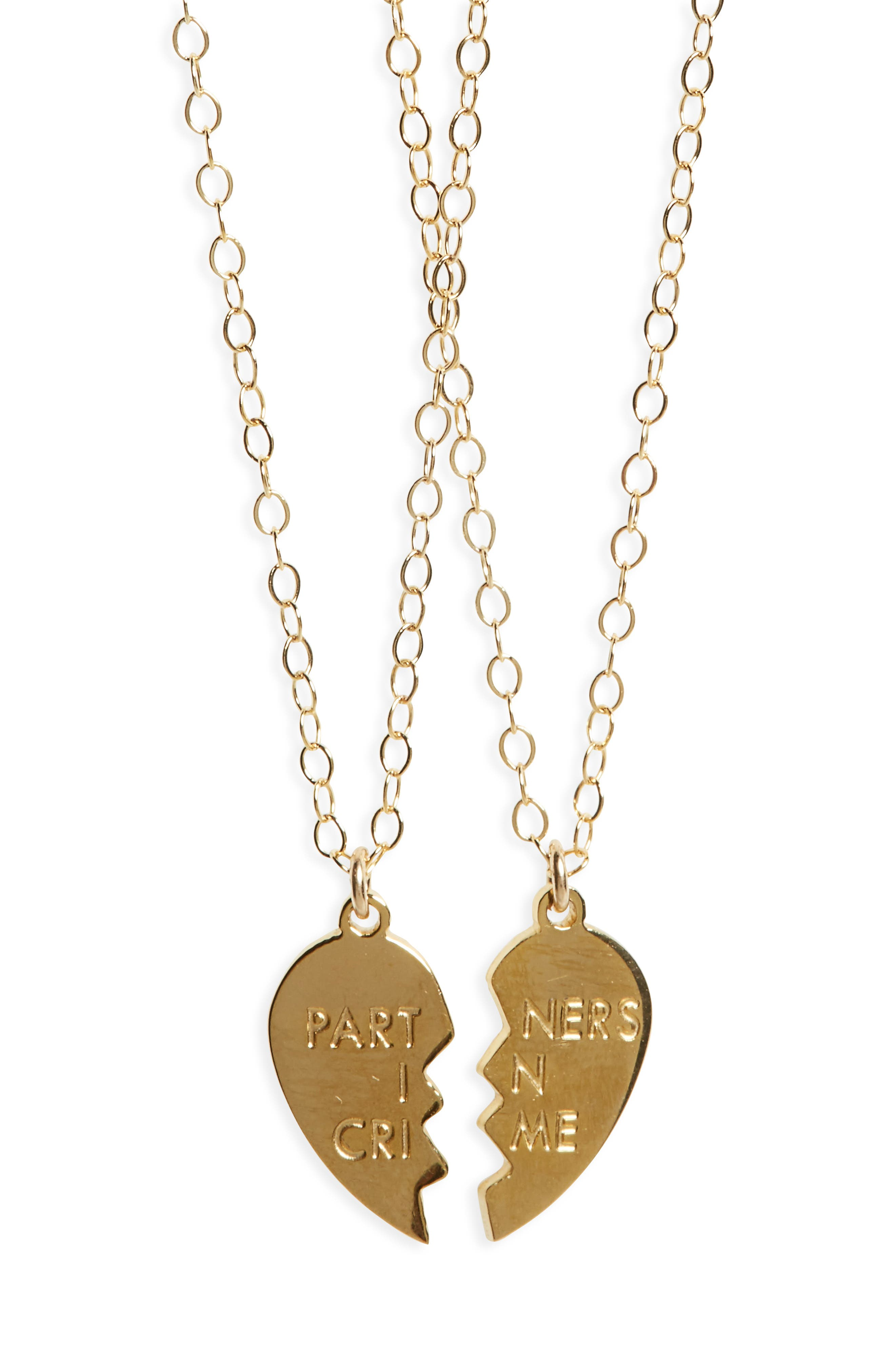 Partners In Crime Necklace Set,                         Main,                         color, Gold