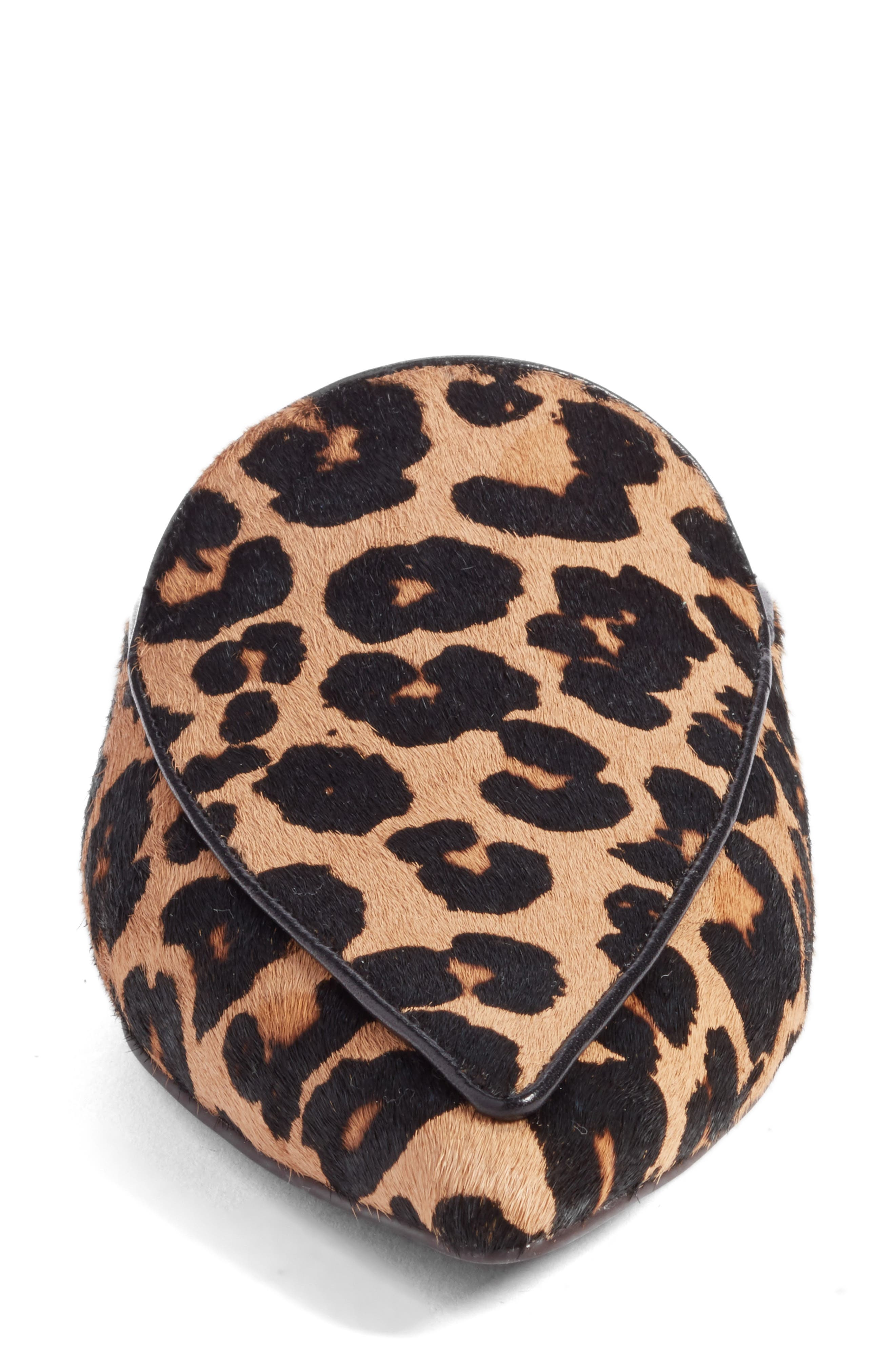Piper Loafer Mule,                             Alternate thumbnail 4, color,                             Ocelot Print Calf Hair