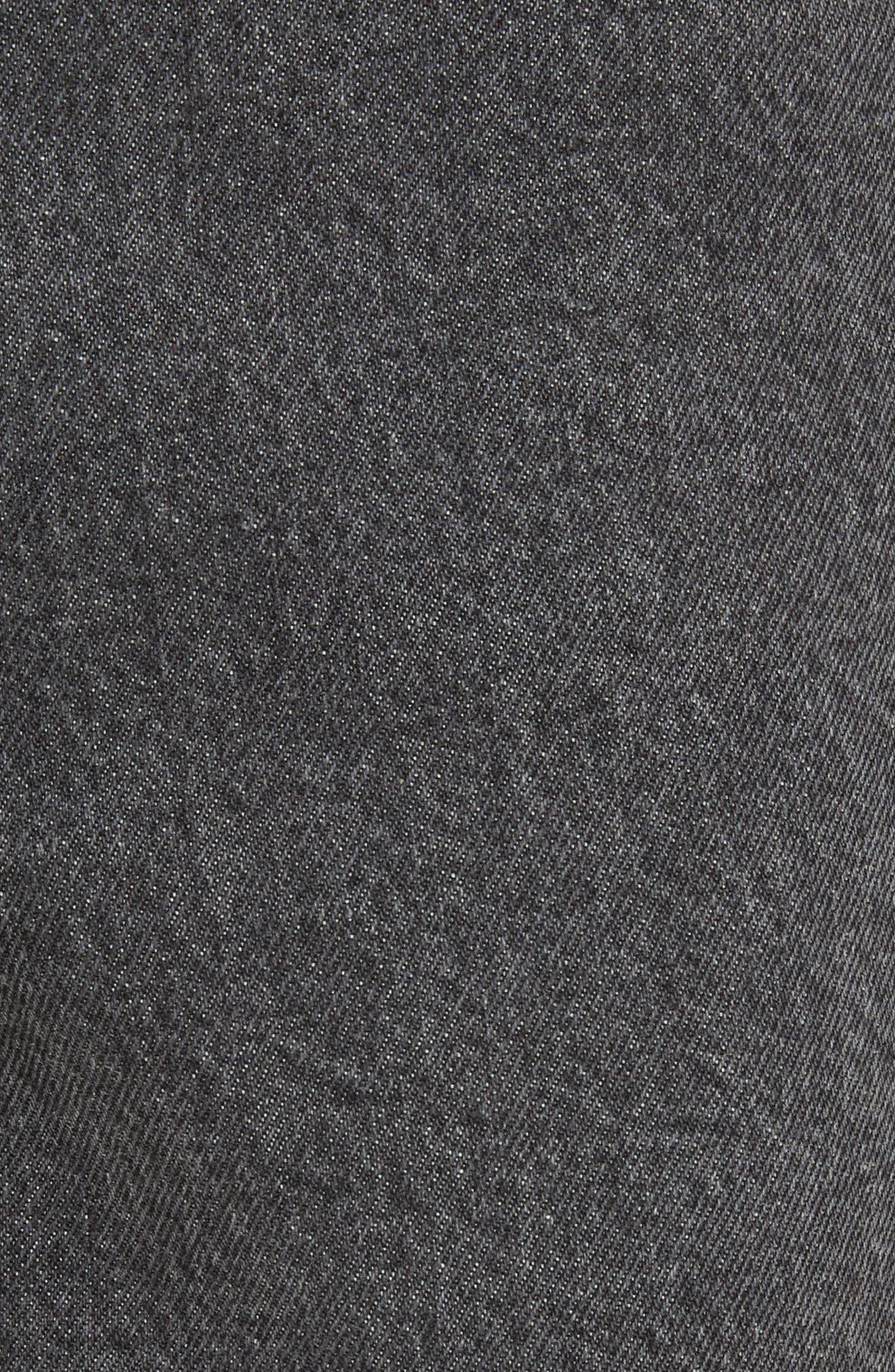 Alternate Image 6  - Ashley Williams Dog Embroidered Jeans (Grey)