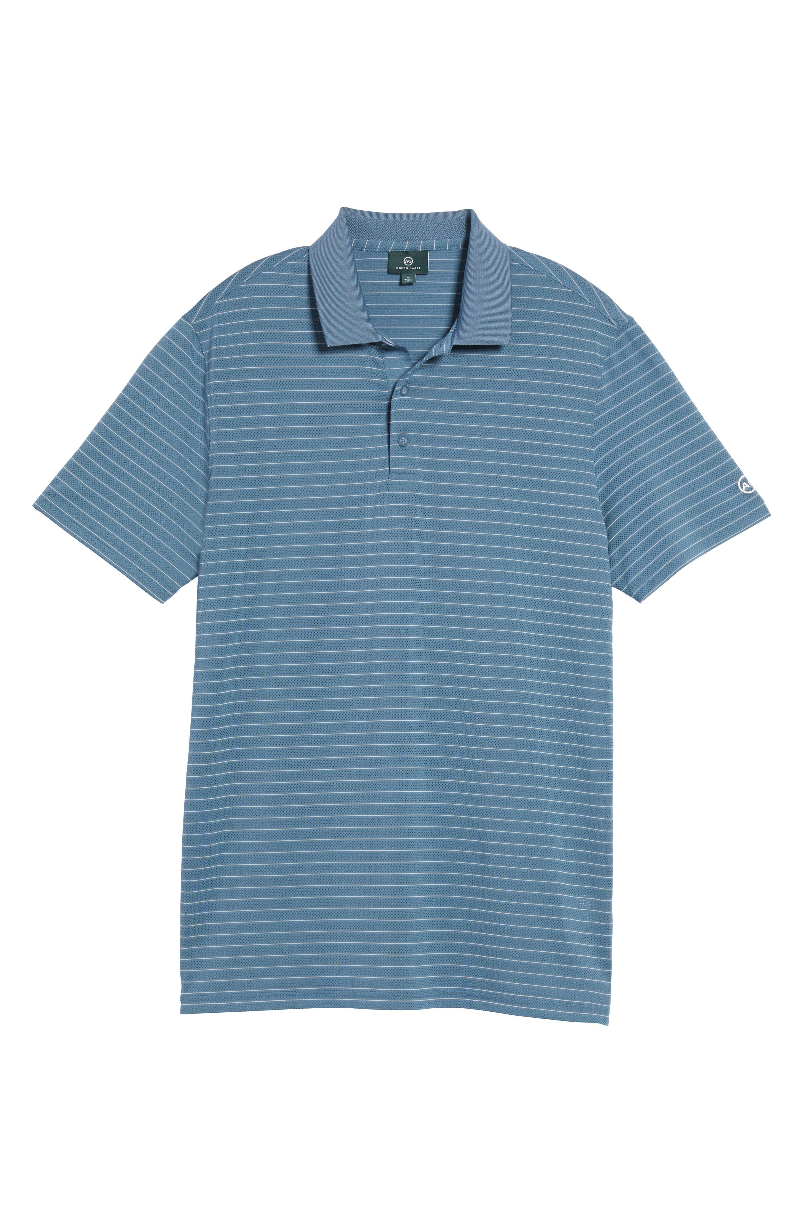 Trexler Stripe Polo,                             Alternate thumbnail 6, color,                             Blue Print