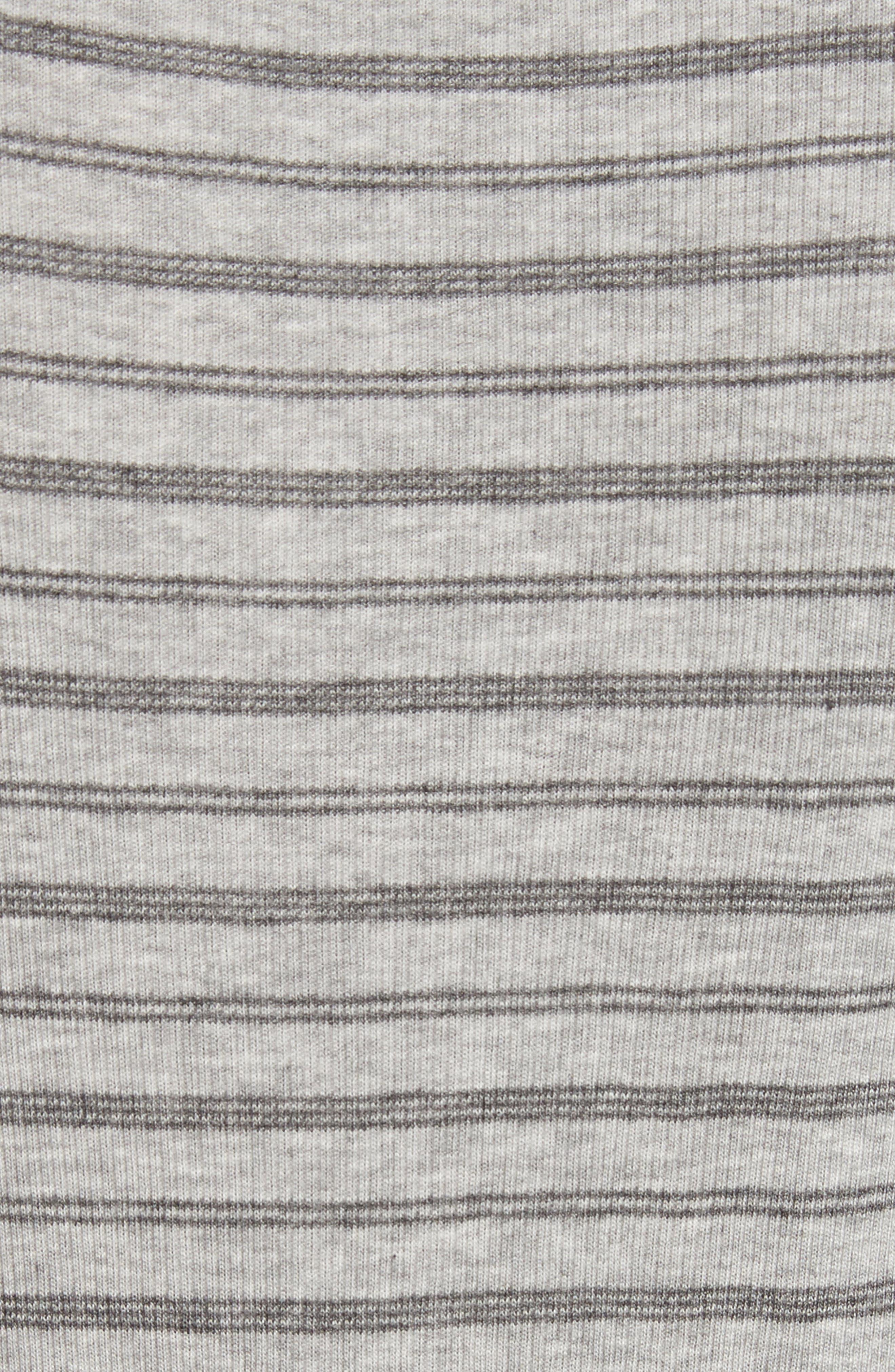 Double Stripe Top,                             Alternate thumbnail 6, color,                             Heather Grey