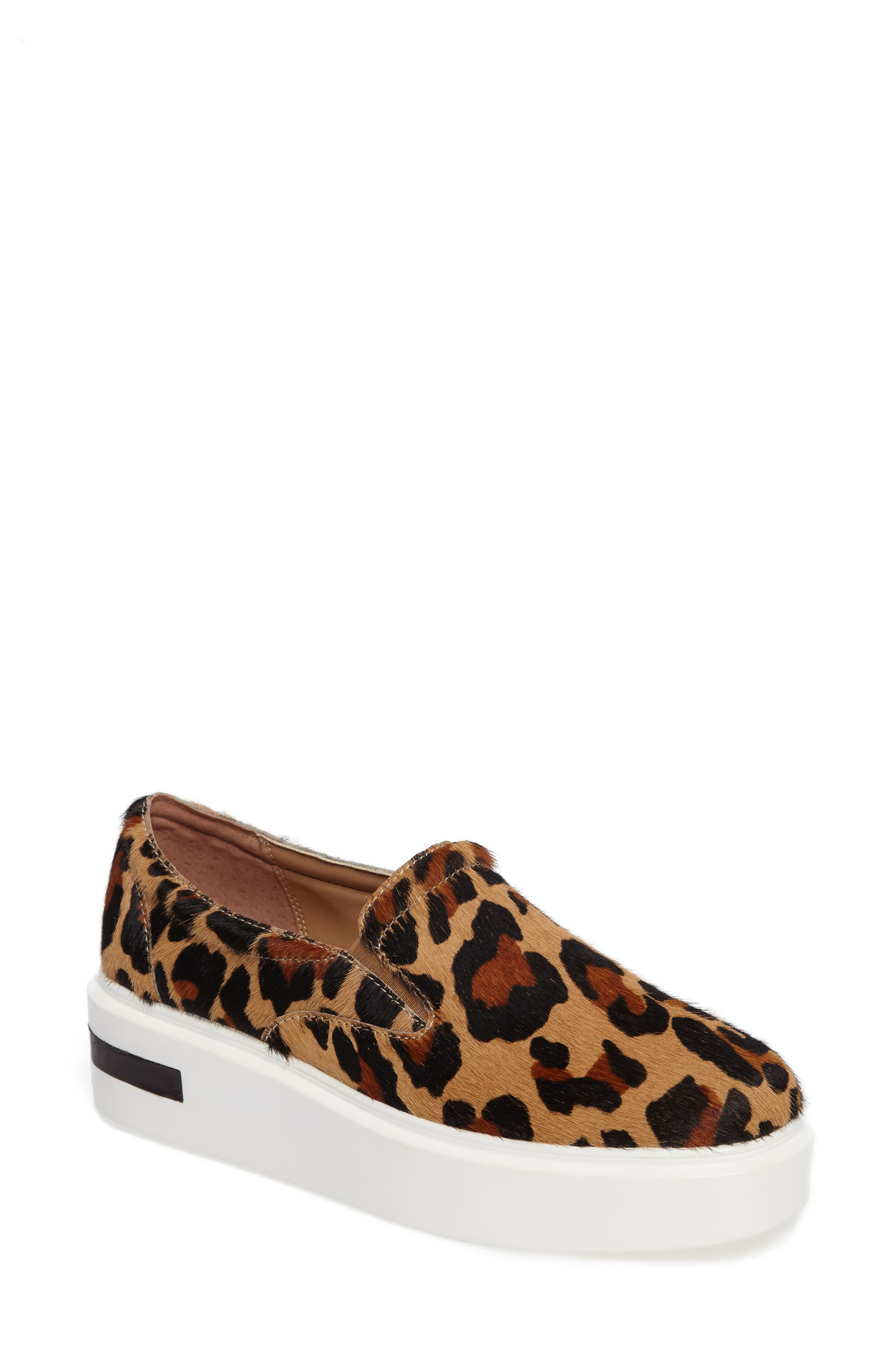 Linea Paolo Fairfax II Genuine Calf Hair Platform Sneaker (Women)
