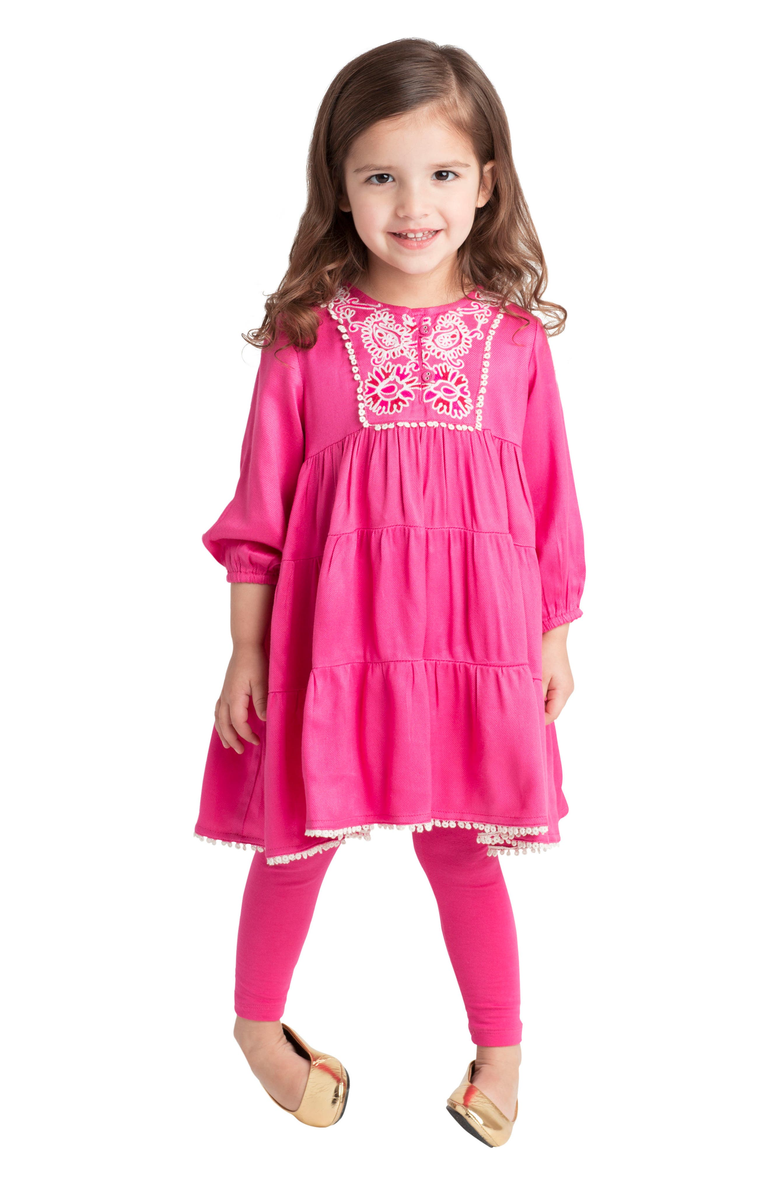 Alternate Image 3  - Masalababy Gypsy Rose Dress (Baby Girls)