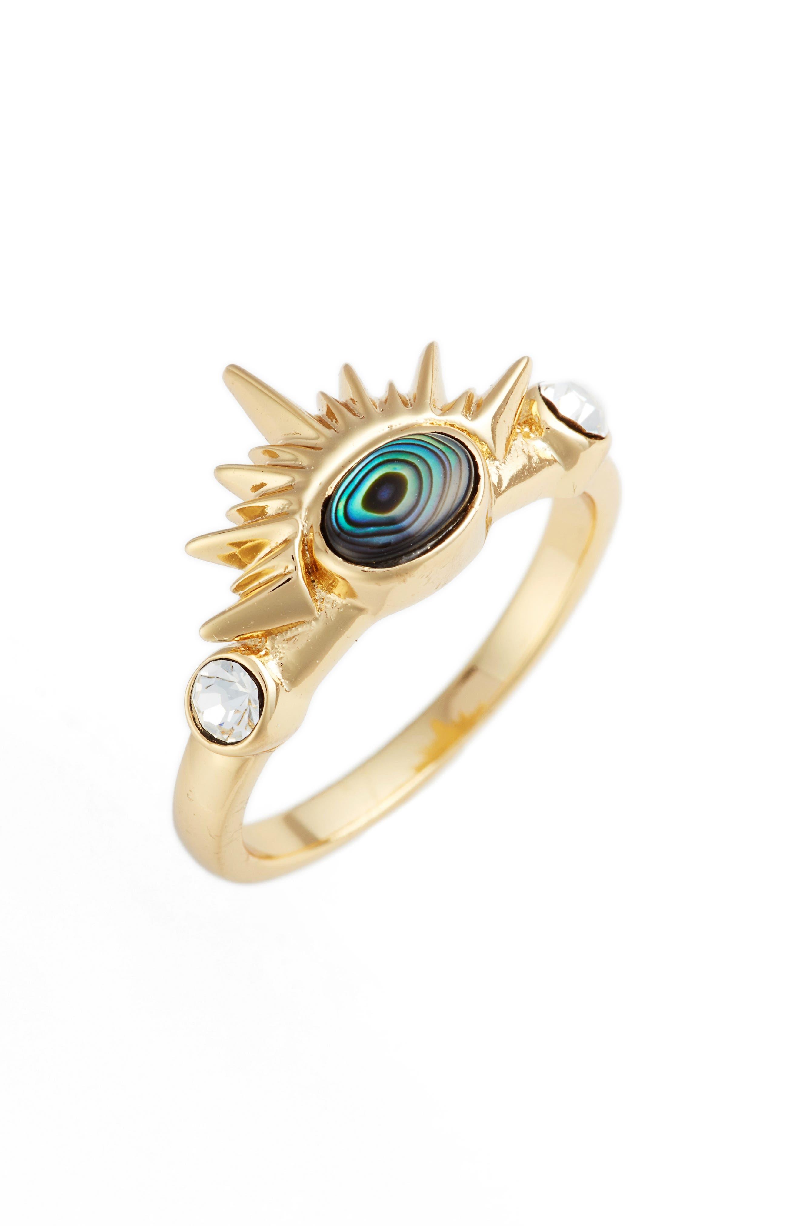 Magella Ring,                         Main,                         color, Gold/ Abalone