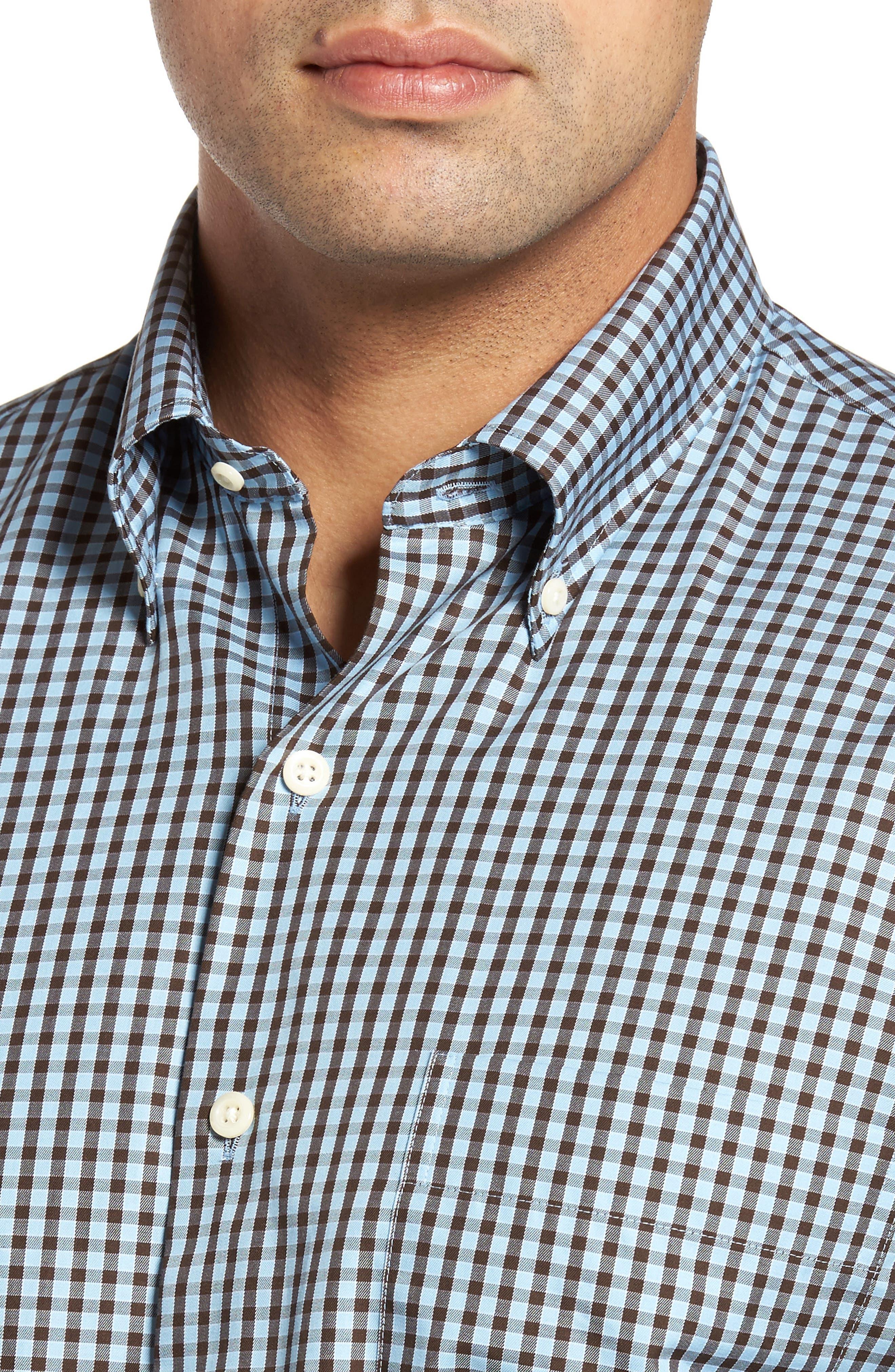 Alternate Image 4  - Peter Millar Midwinter Gingham Regular Fit Sport Shirt