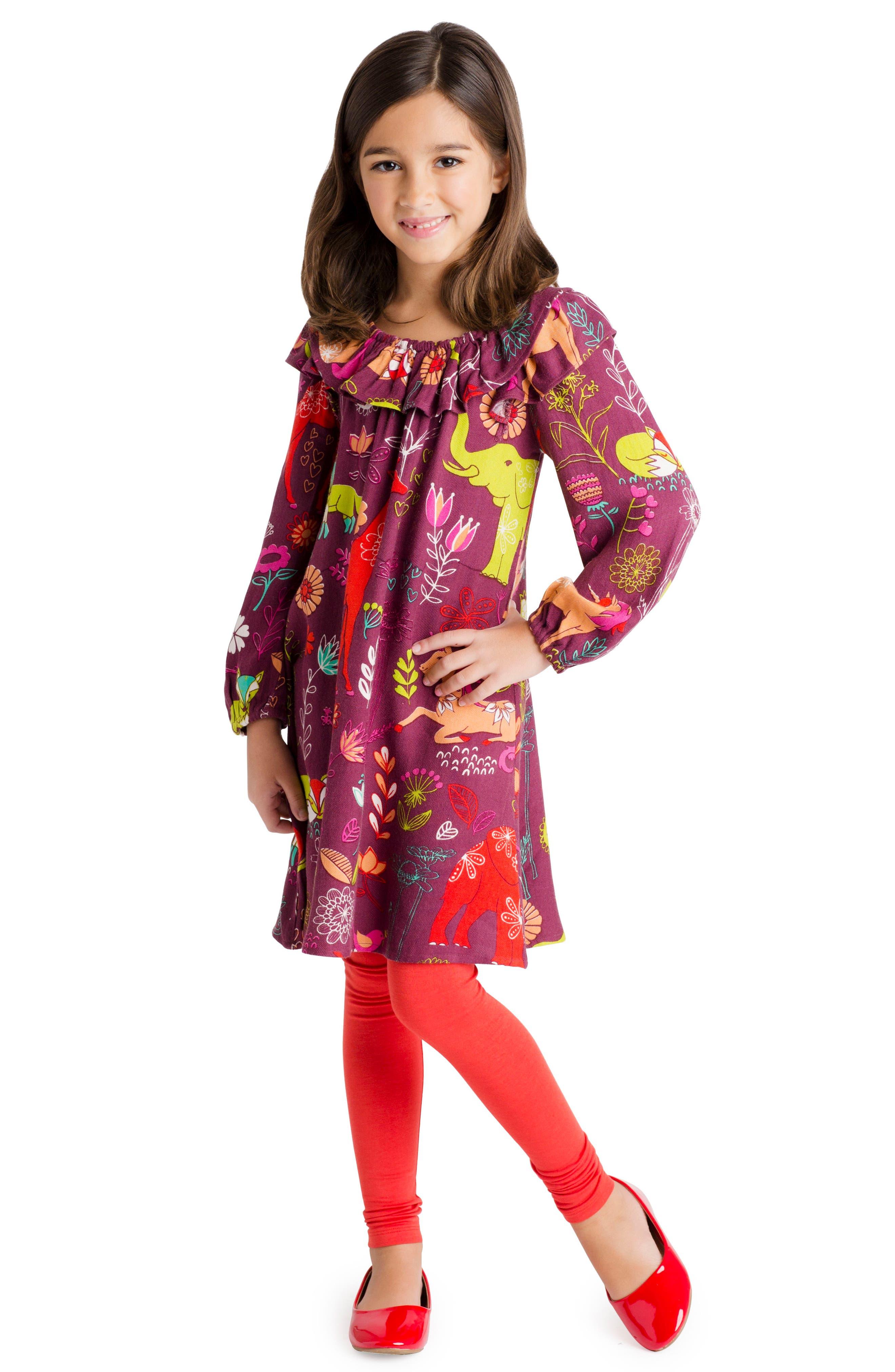 Alternate Image 2  - Masalababy Magic Forest Print Dress (Toddler Girls, Little Girls & Big Girls)