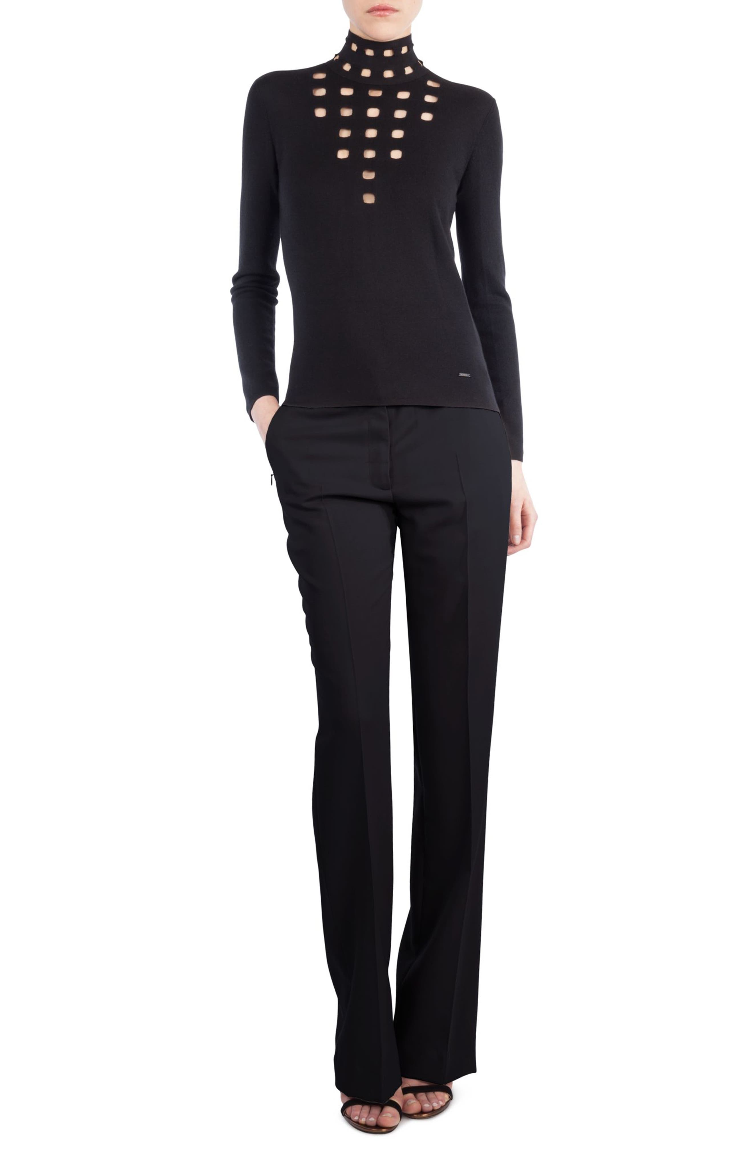 Akris St. Gallen Cutout Cashmere & Silk Turtleneck Sweater