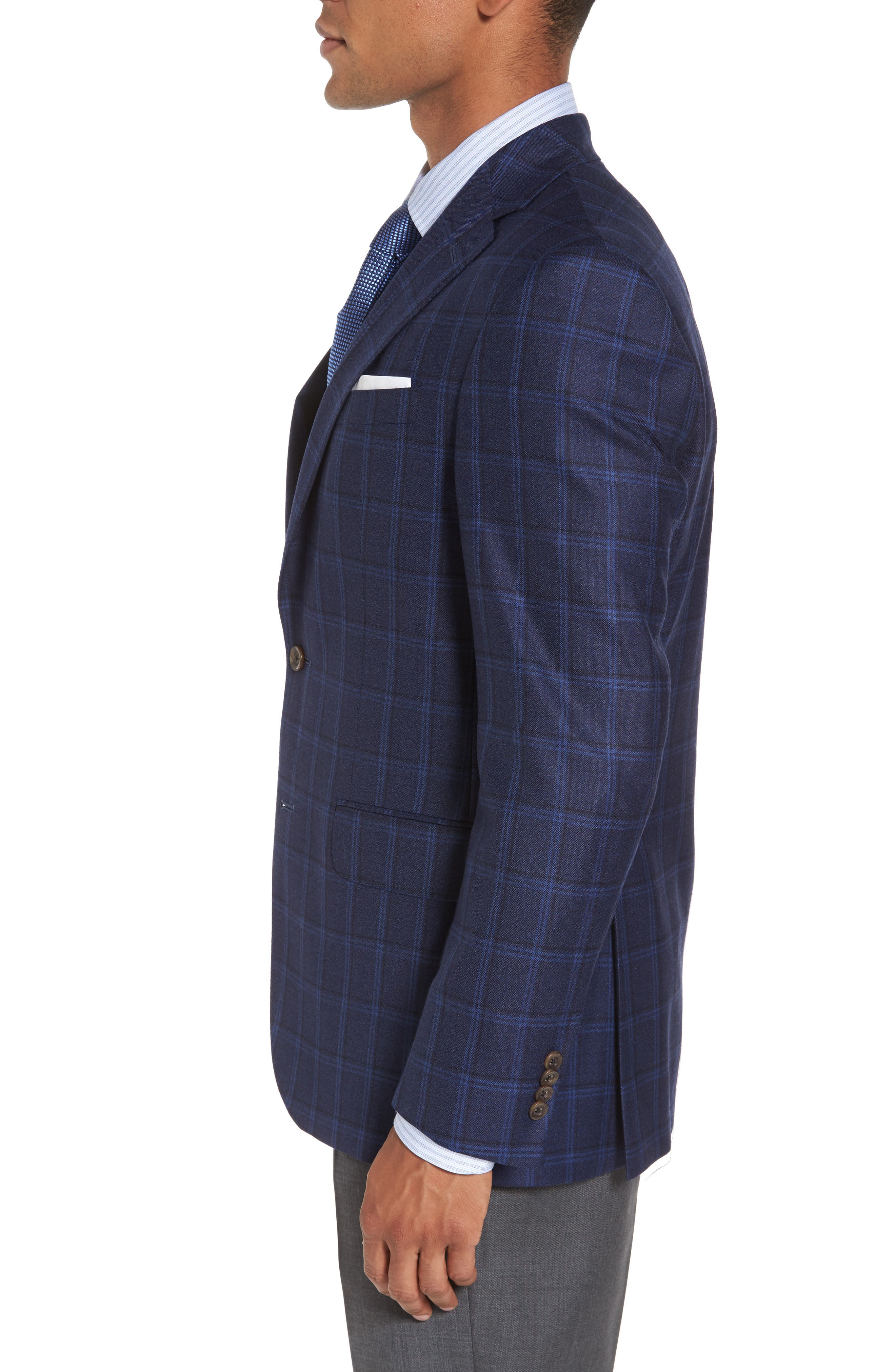 Alternate Image 3  - David Donahue Conner Classic Fit Sport Coat