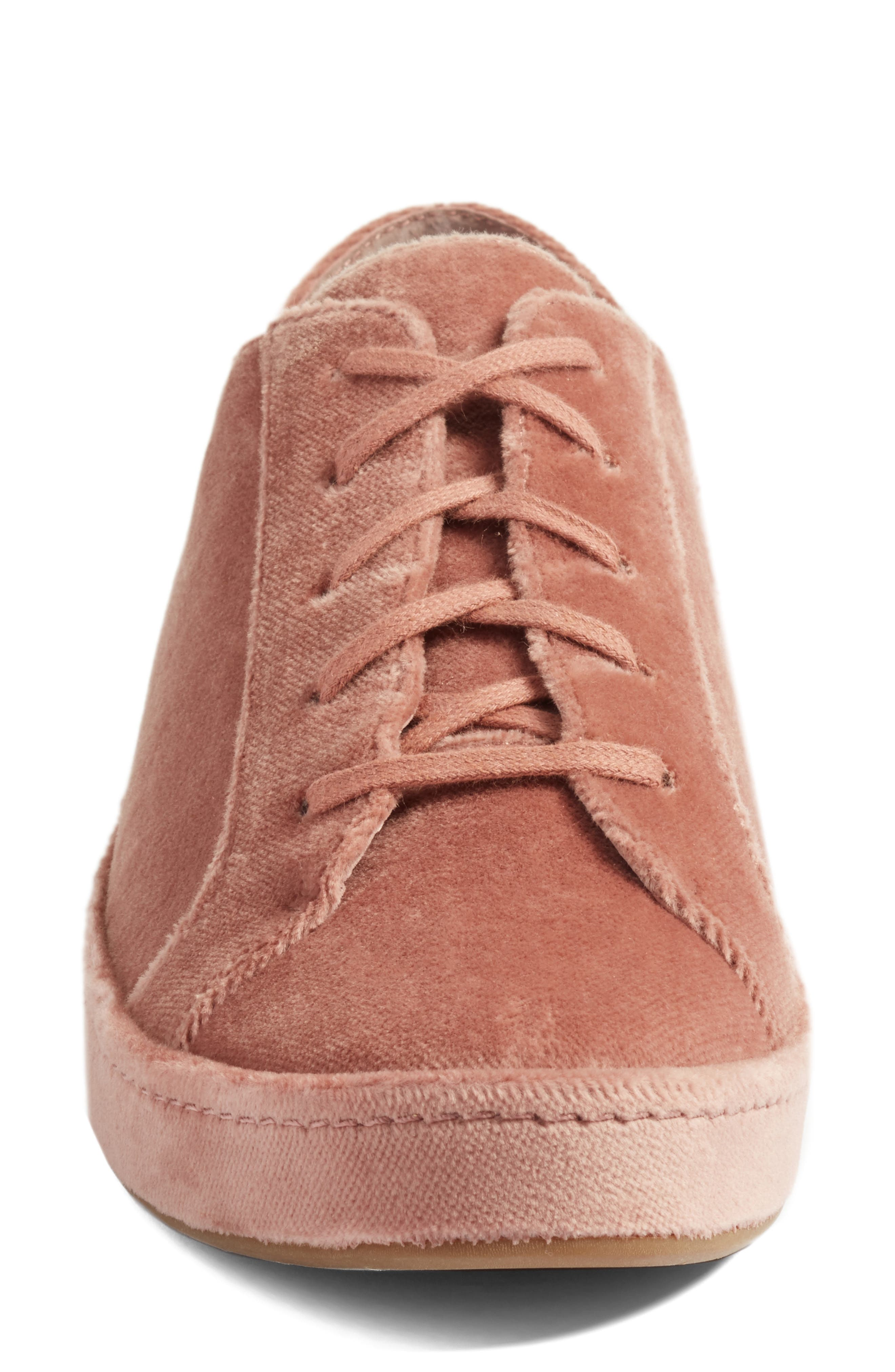 Daryl Low Top Sneaker,                             Alternate thumbnail 4, color,                             Light Mauve