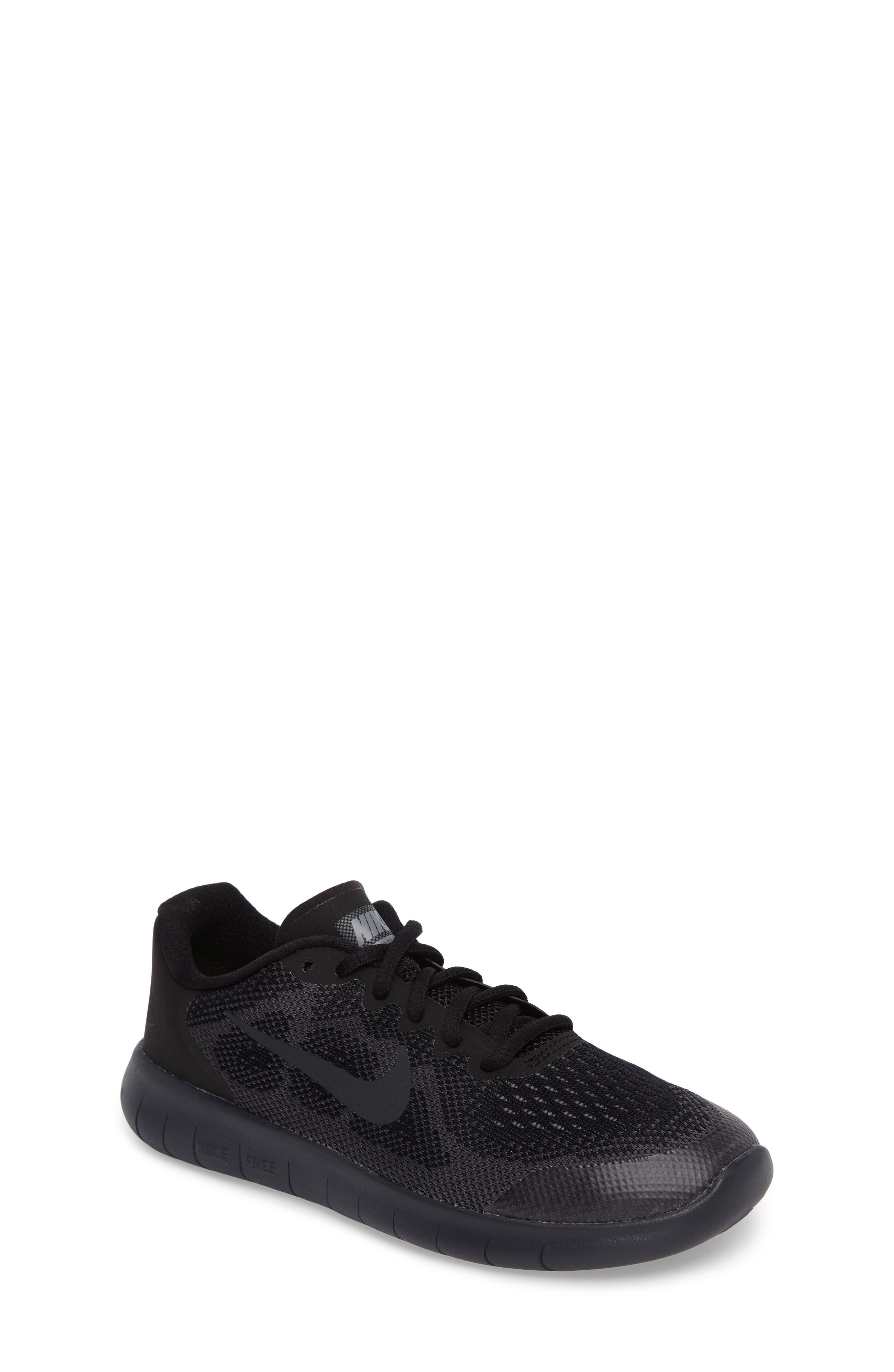 Free RN Running Shoe,                             Main thumbnail 1, color,                             Black/ Anthracite/ Dark Grey