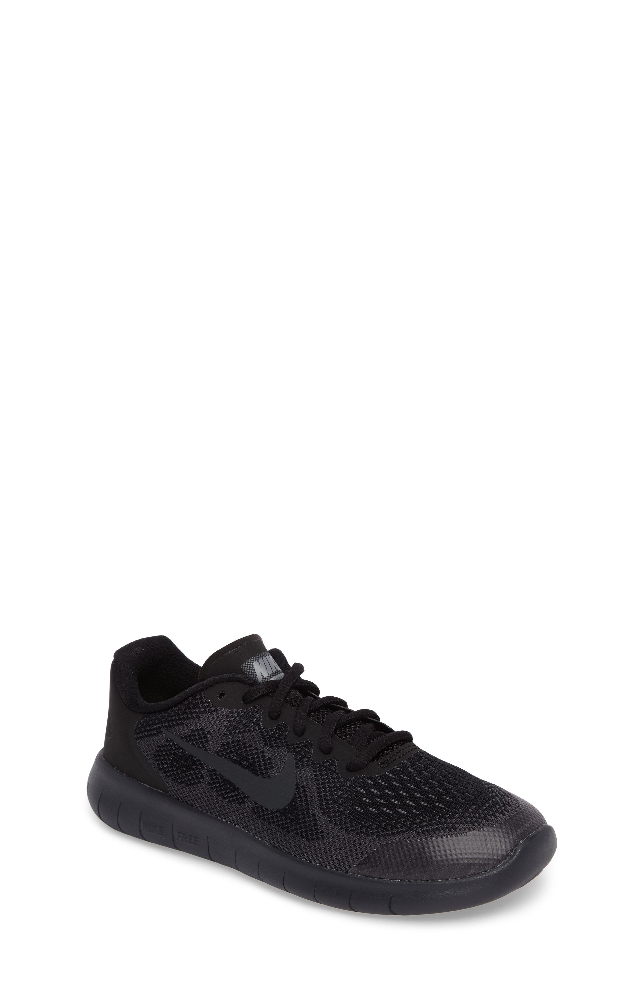 Free RN Running Shoe,                         Main,                         color, Black/ Anthracite/ Dark Grey
