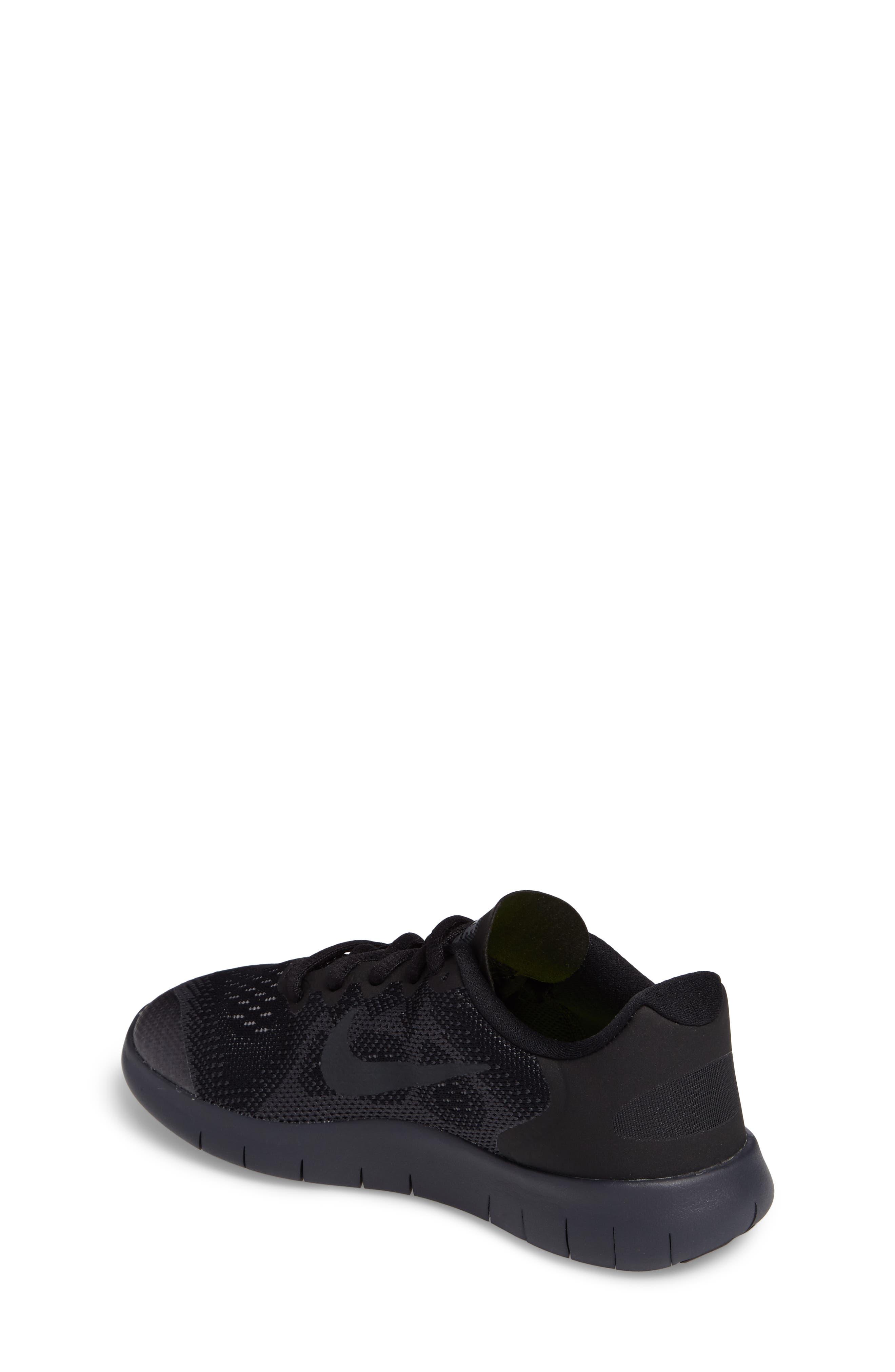 Free RN Running Shoe,                             Alternate thumbnail 2, color,                             Black/ Anthracite/ Dark Grey