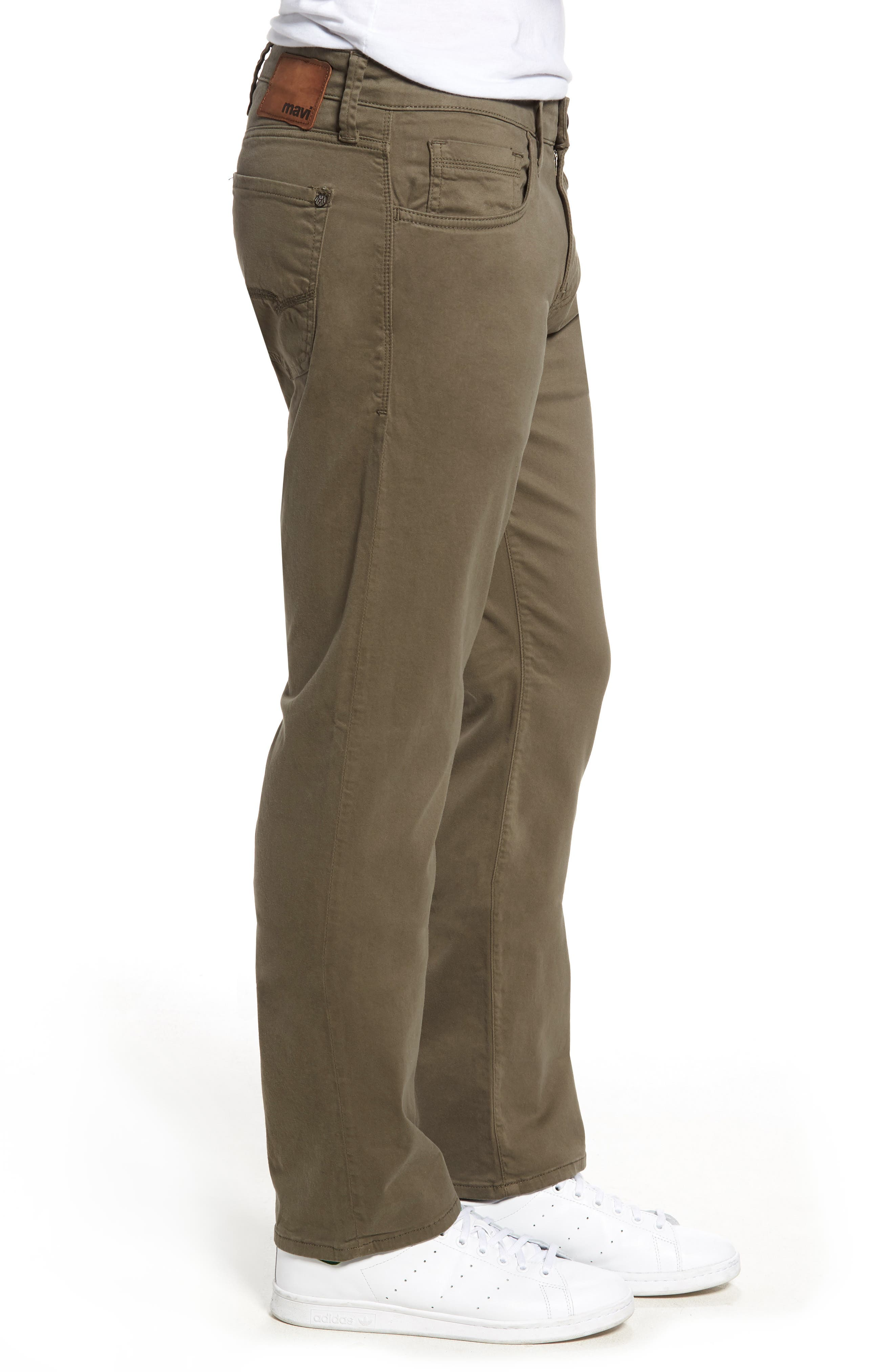 Zach Straight Fit Twill Pants,                             Alternate thumbnail 3, color,                             Dusty Olive Twill
