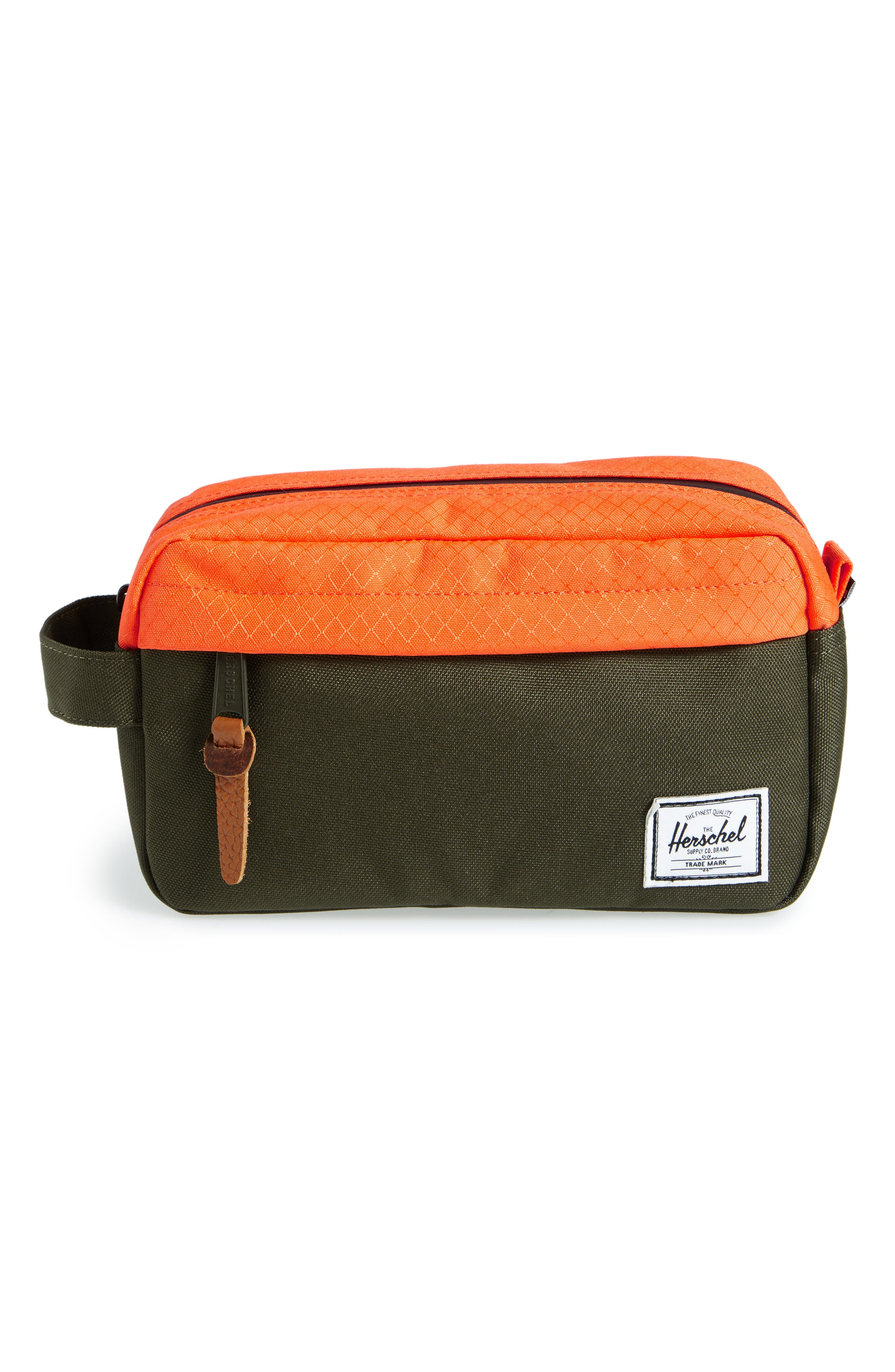 Chapter Carry-On Travel Kit,                             Main thumbnail 1, color,                             Forest Night/ Orange