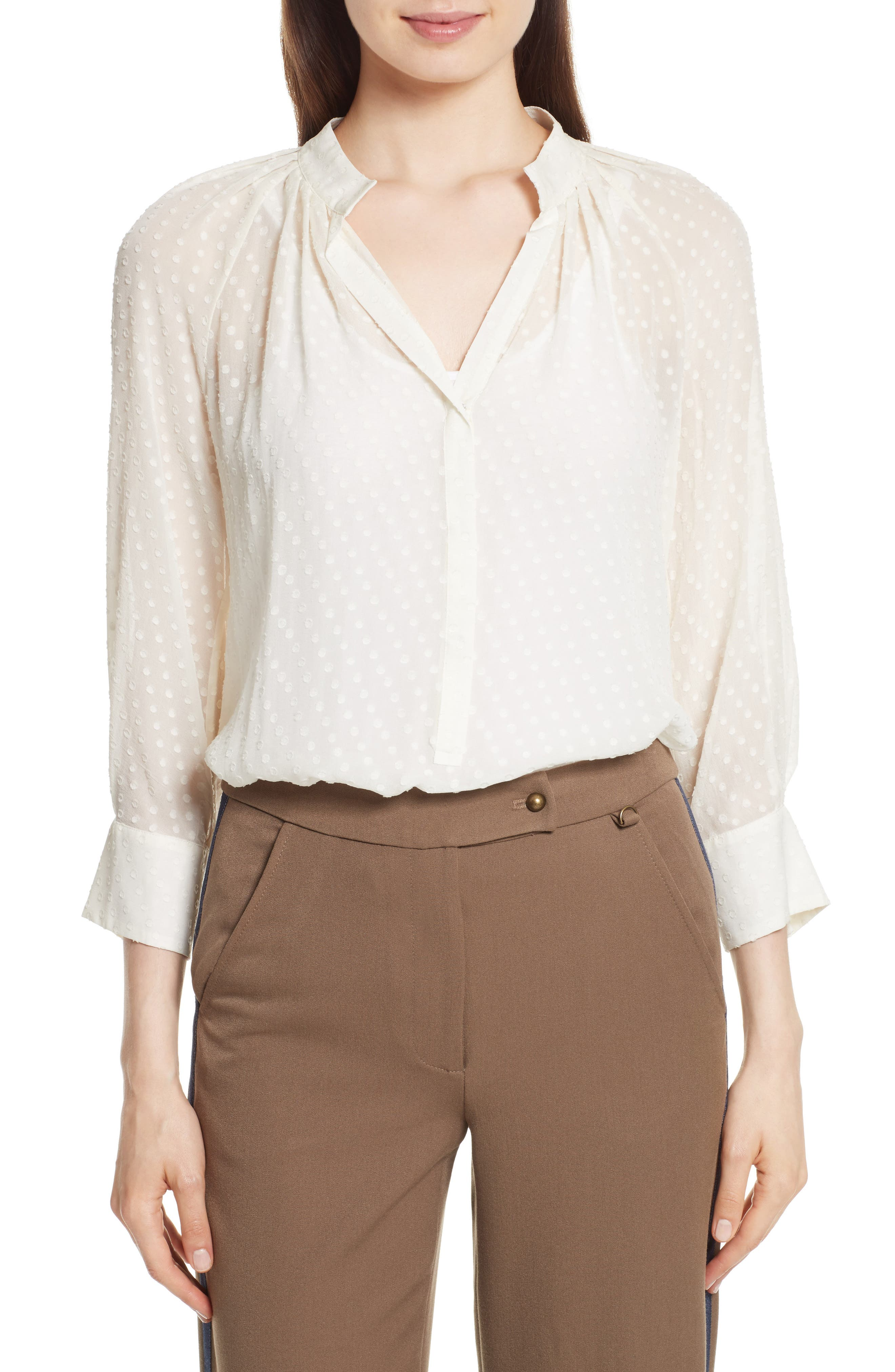 Tracy Reese Silk Peasant Blouse
