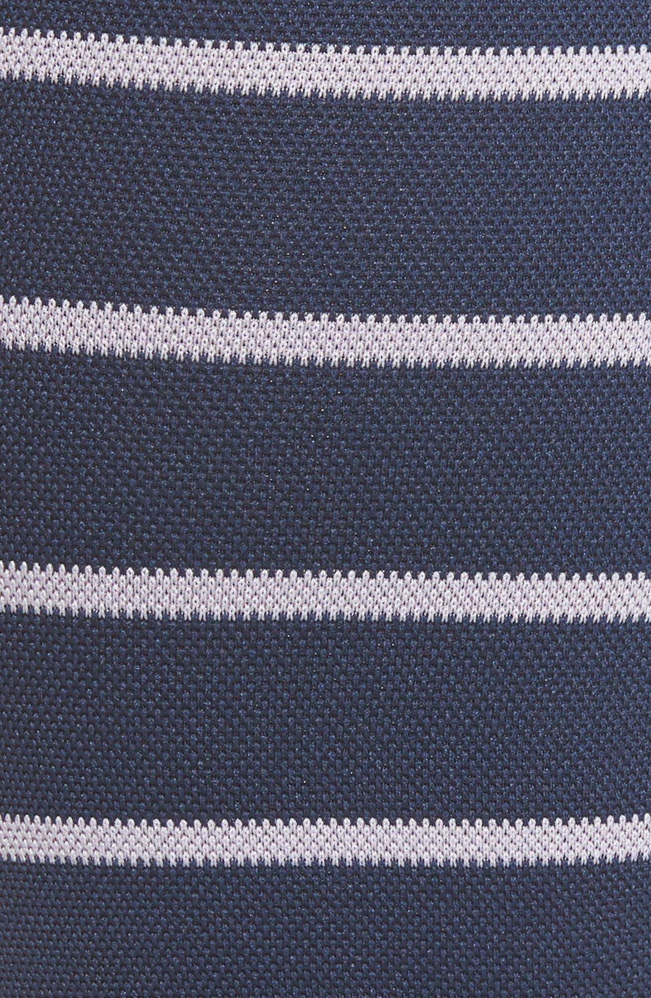 Nautical Stripe Graduated Compression Trouser Socks,                             Alternate thumbnail 2, color,                             Blue/ Lavender