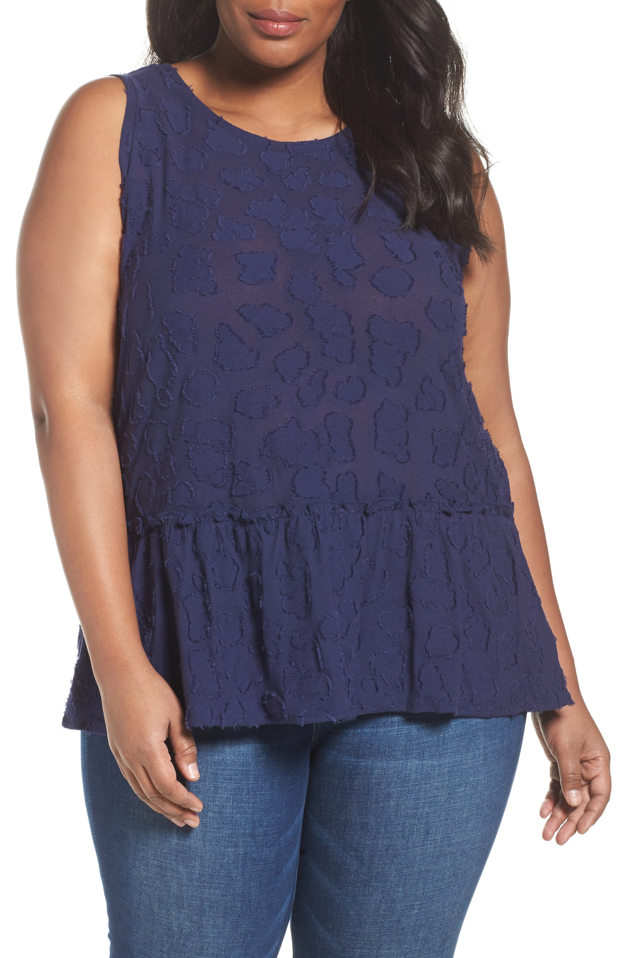 MICHAEL Michael Kors Gathered Peplum Tank (Plus Size)
