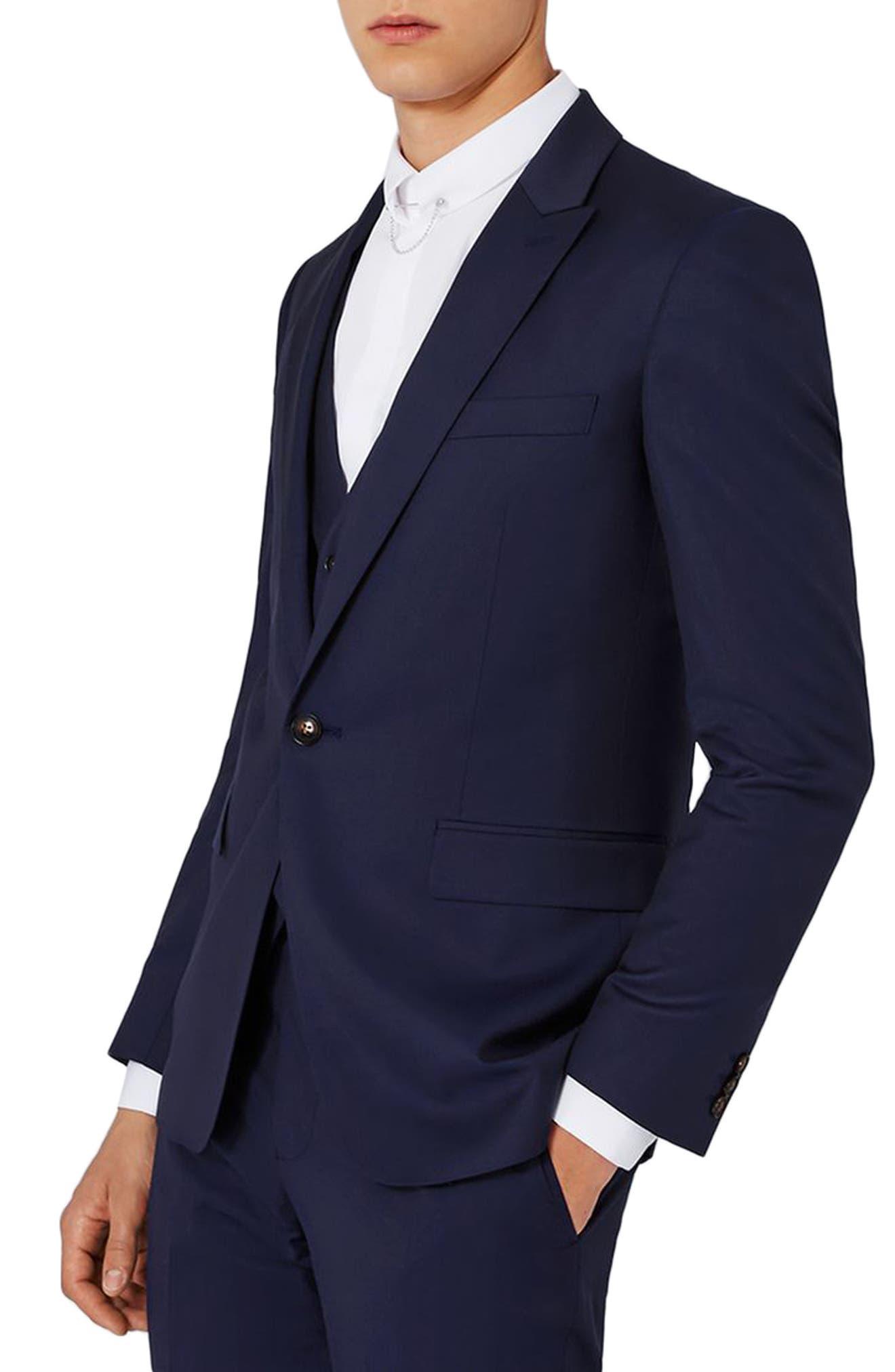 TOPMAN Charlie Casely-Hayford x Topman Skinny Fit Twill Suit Jacket