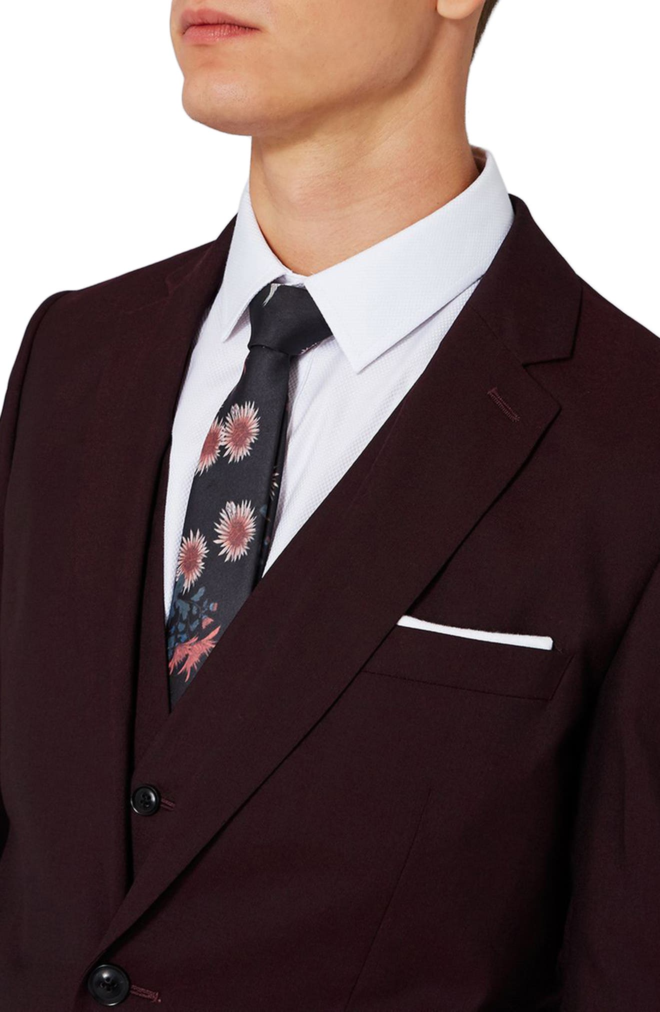 Alternate Image 4  - Charlie Casely-Hayford x Topman Skinny Fit Suit Jacket
