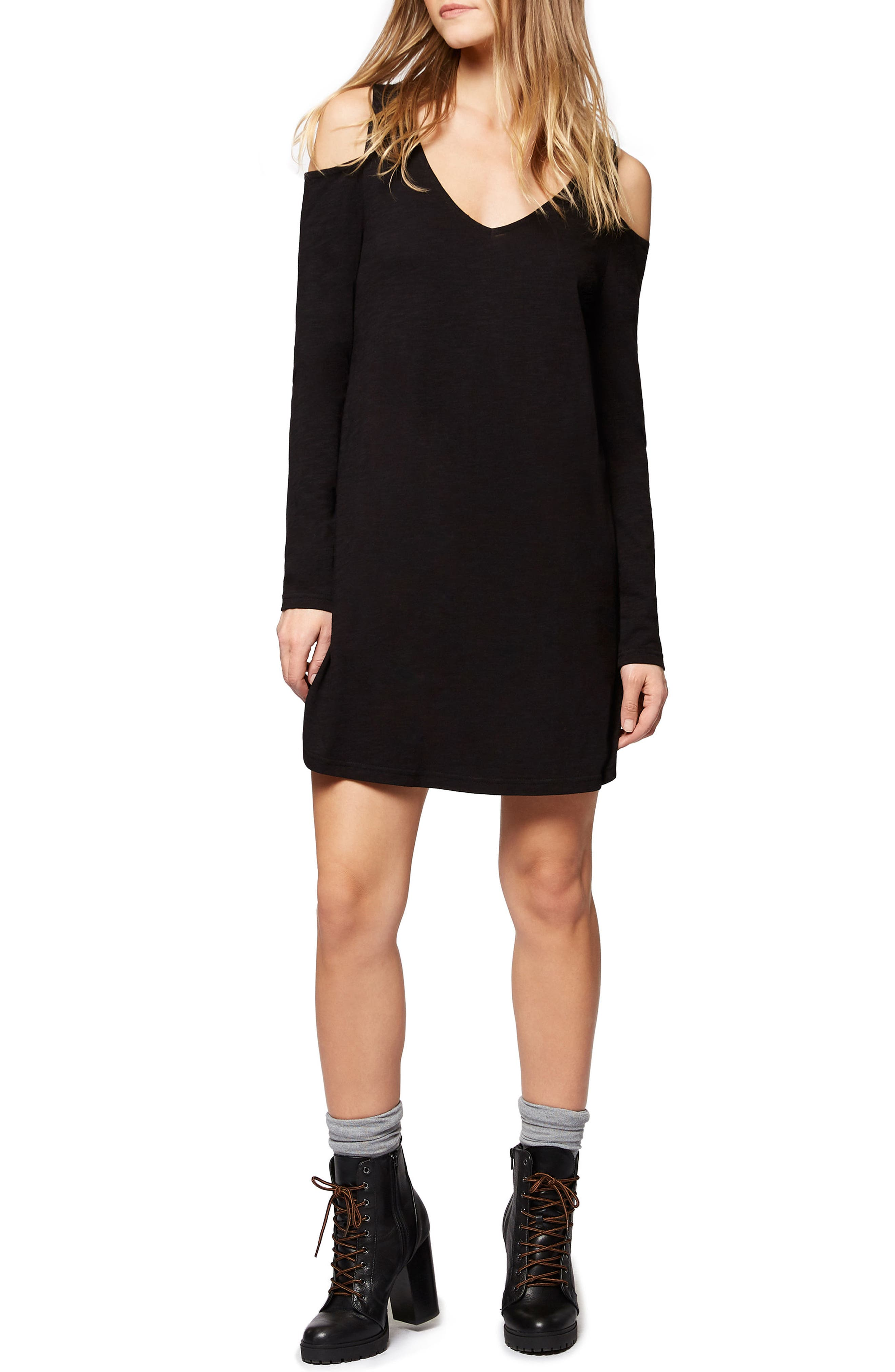Main Image - Sanctuary Morgan Cold Shoulder T-Shirt Dress