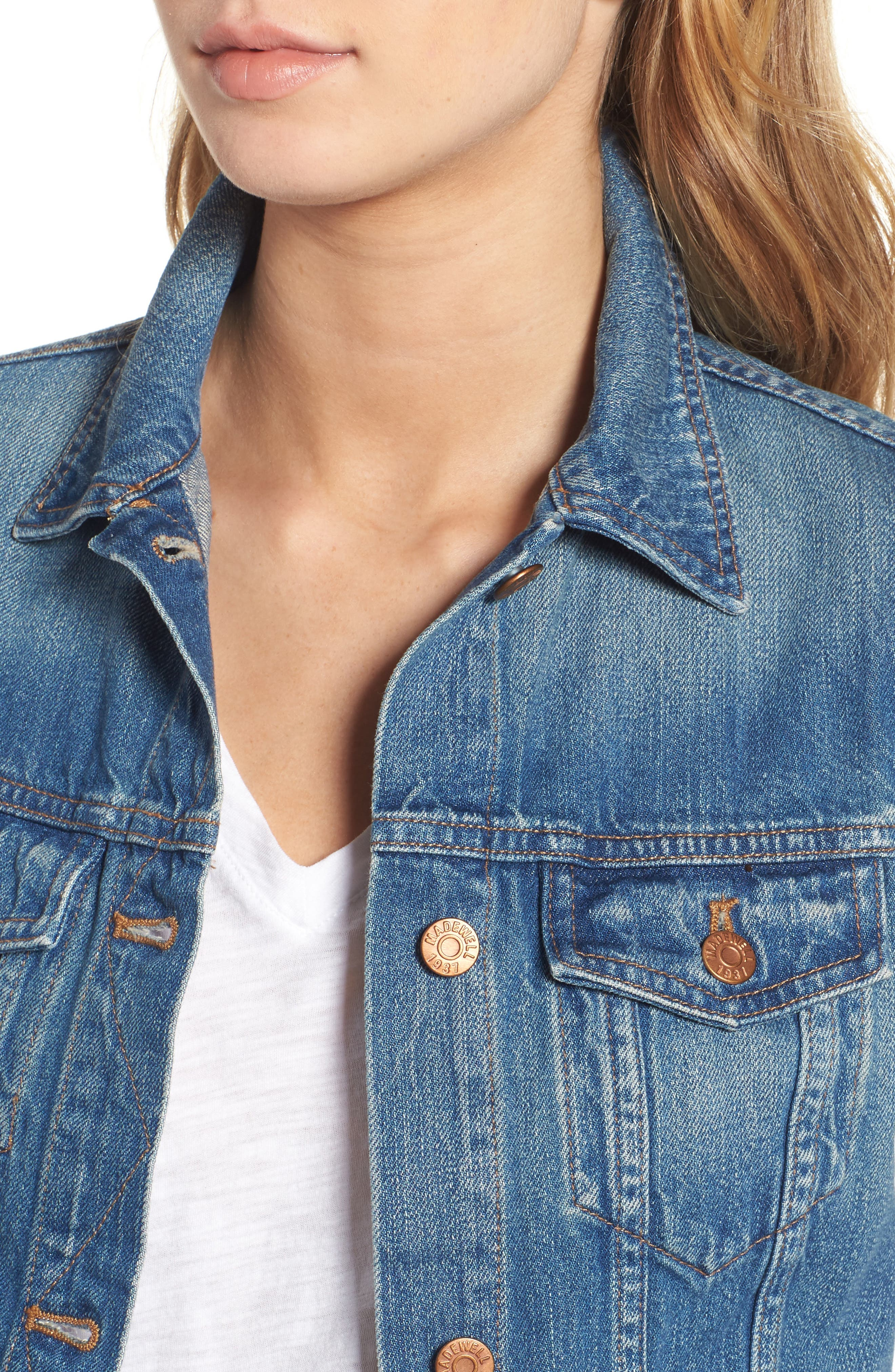 Alternate Image 5  - Madewell Jean Jacket (Pinter Wash)