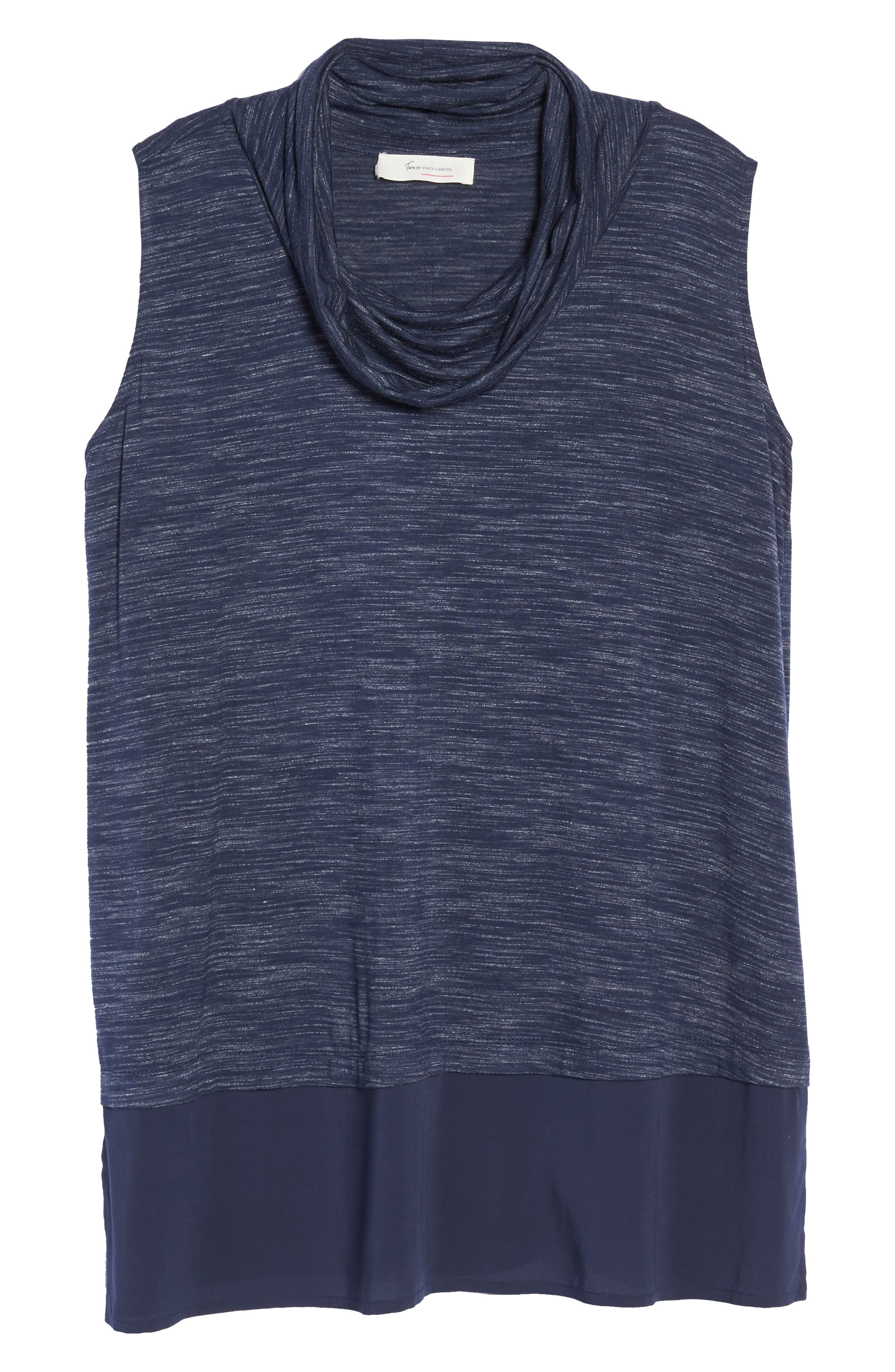Alternate Image 6  - Two by Vince Camuto Space Dyed Cowl Neck Tank