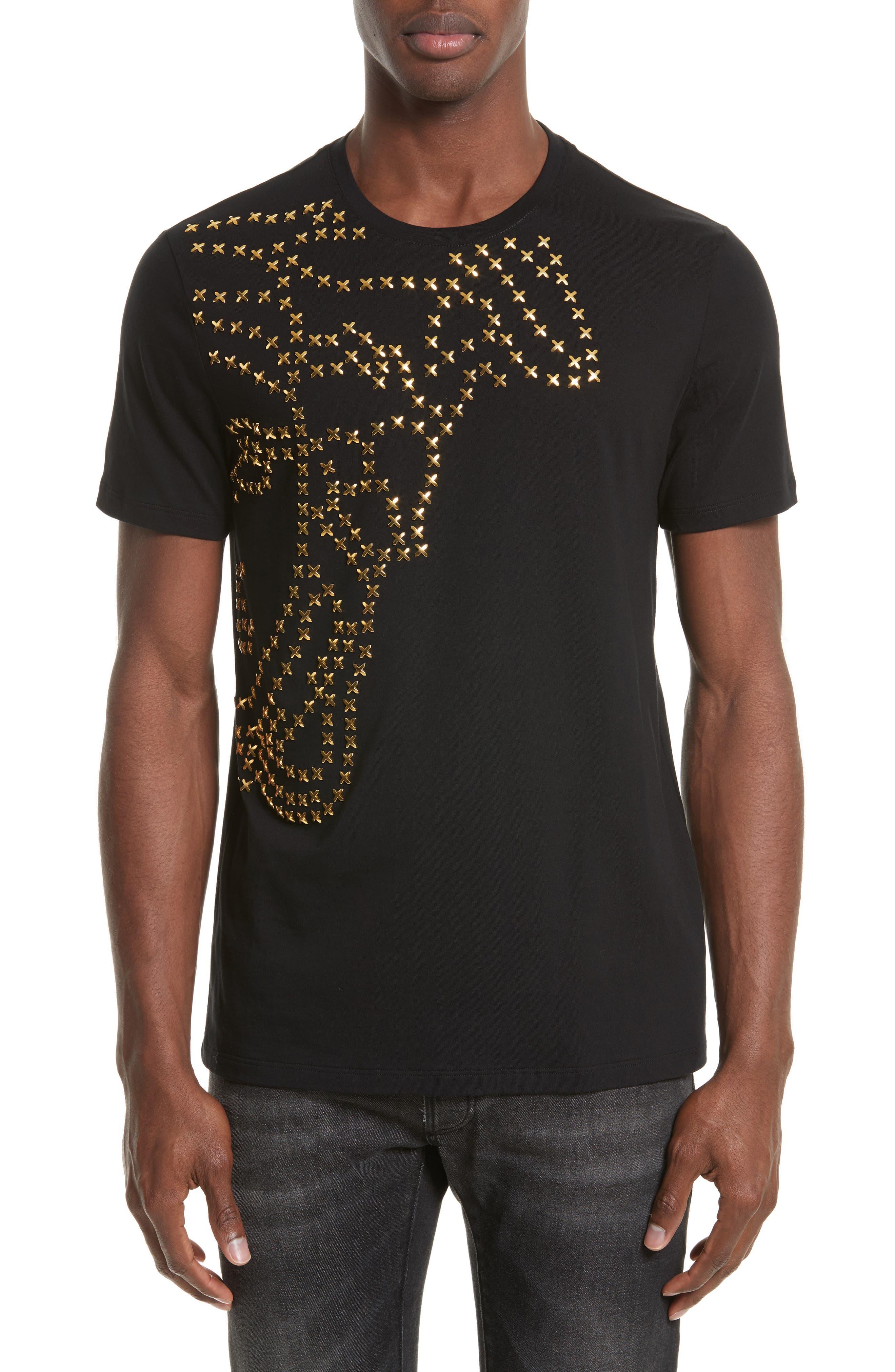 X-Stud Medusa T-Shirt,                         Main,                         color, Black